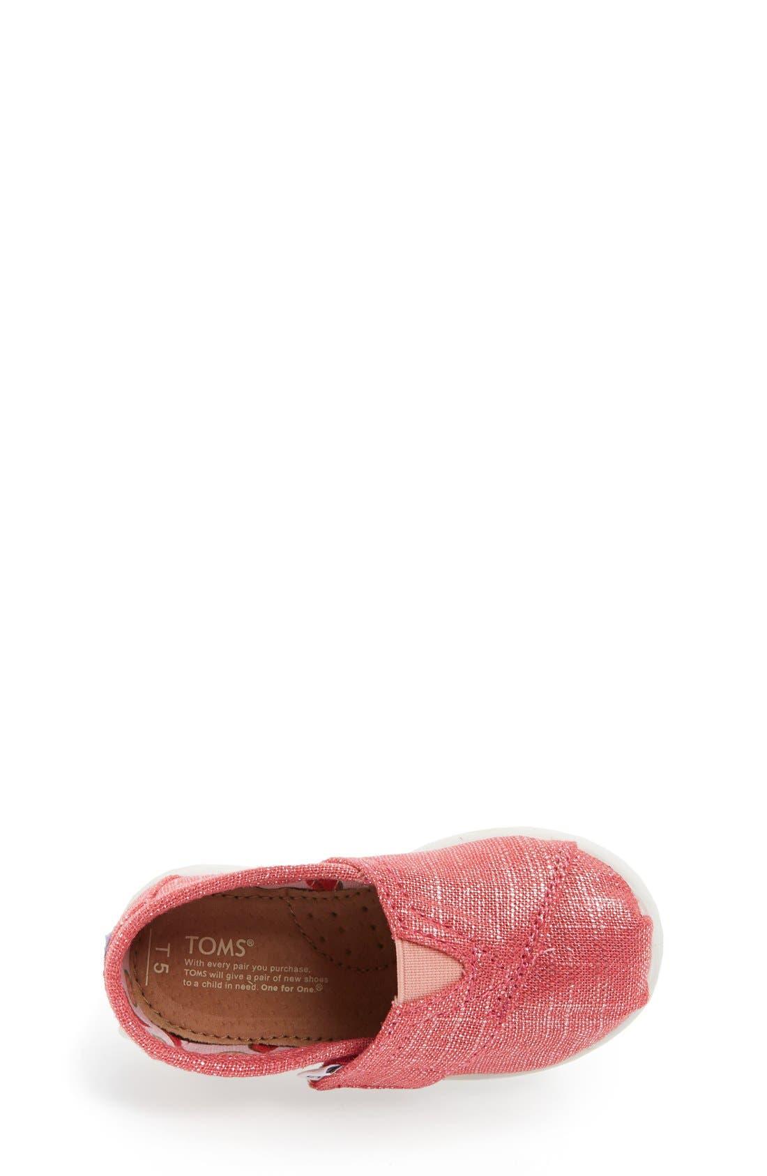 Alternate Image 3  - TOMS 'Classic - Tiny' Shimmer Slip-On (Baby, Walker & Toddler)