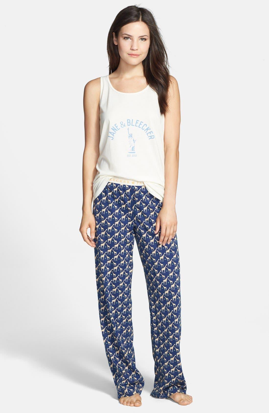 Alternate Image 3  - Jane & Bleecker New York Print Jersey Pajama Pants