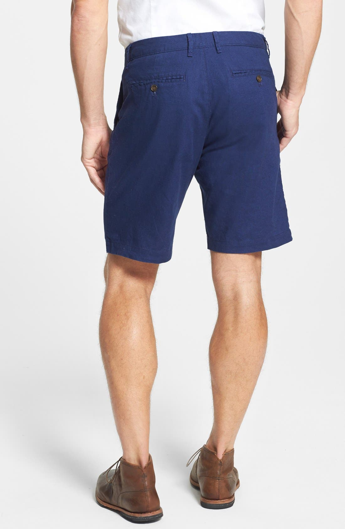 Alternate Image 2  - Bonobos 'Kennedy' Flat Front Cotton & Linen Shorts