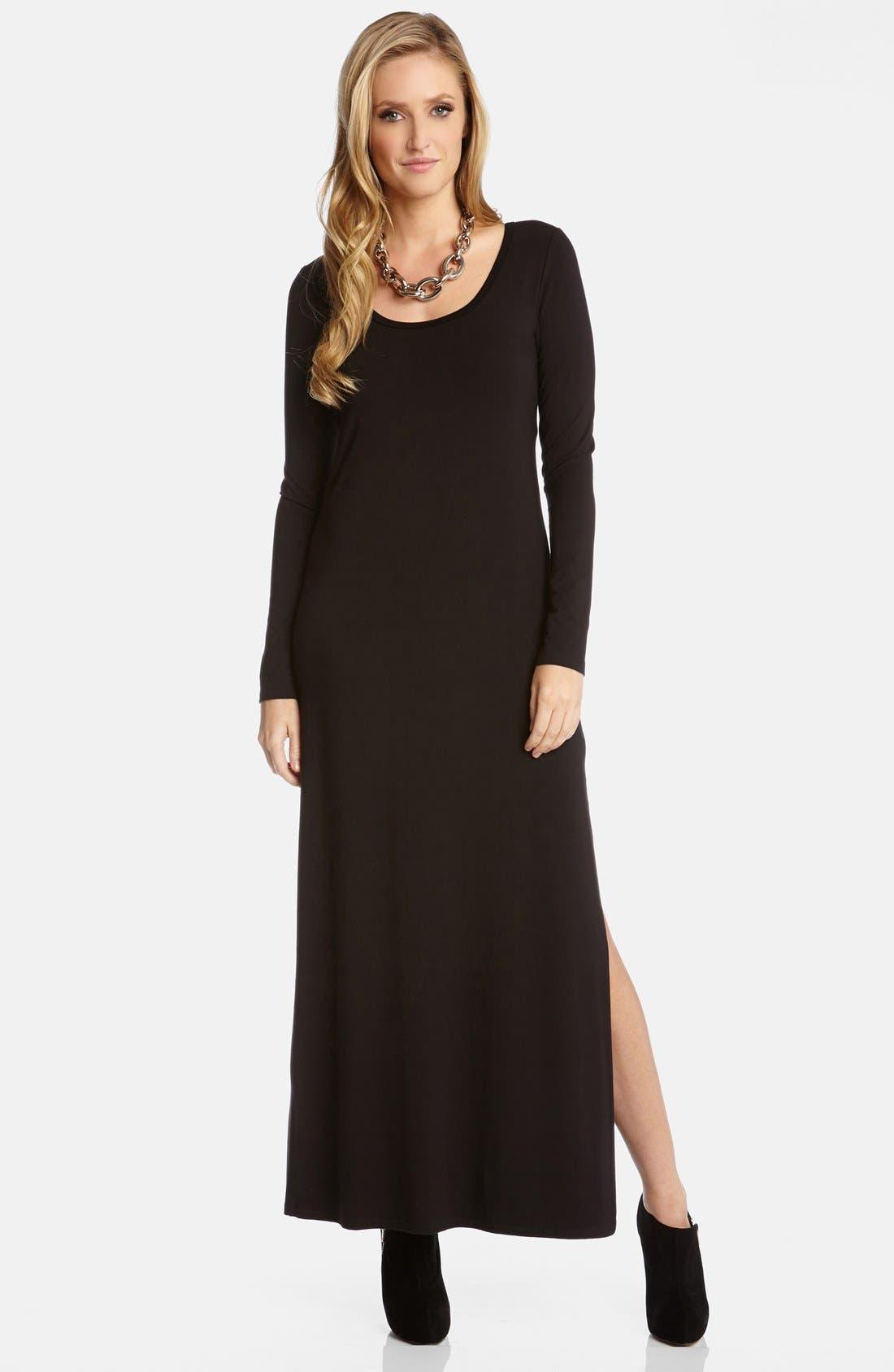 Main Image - Karen Kane Long Sleeve Jersey Maxi Dress