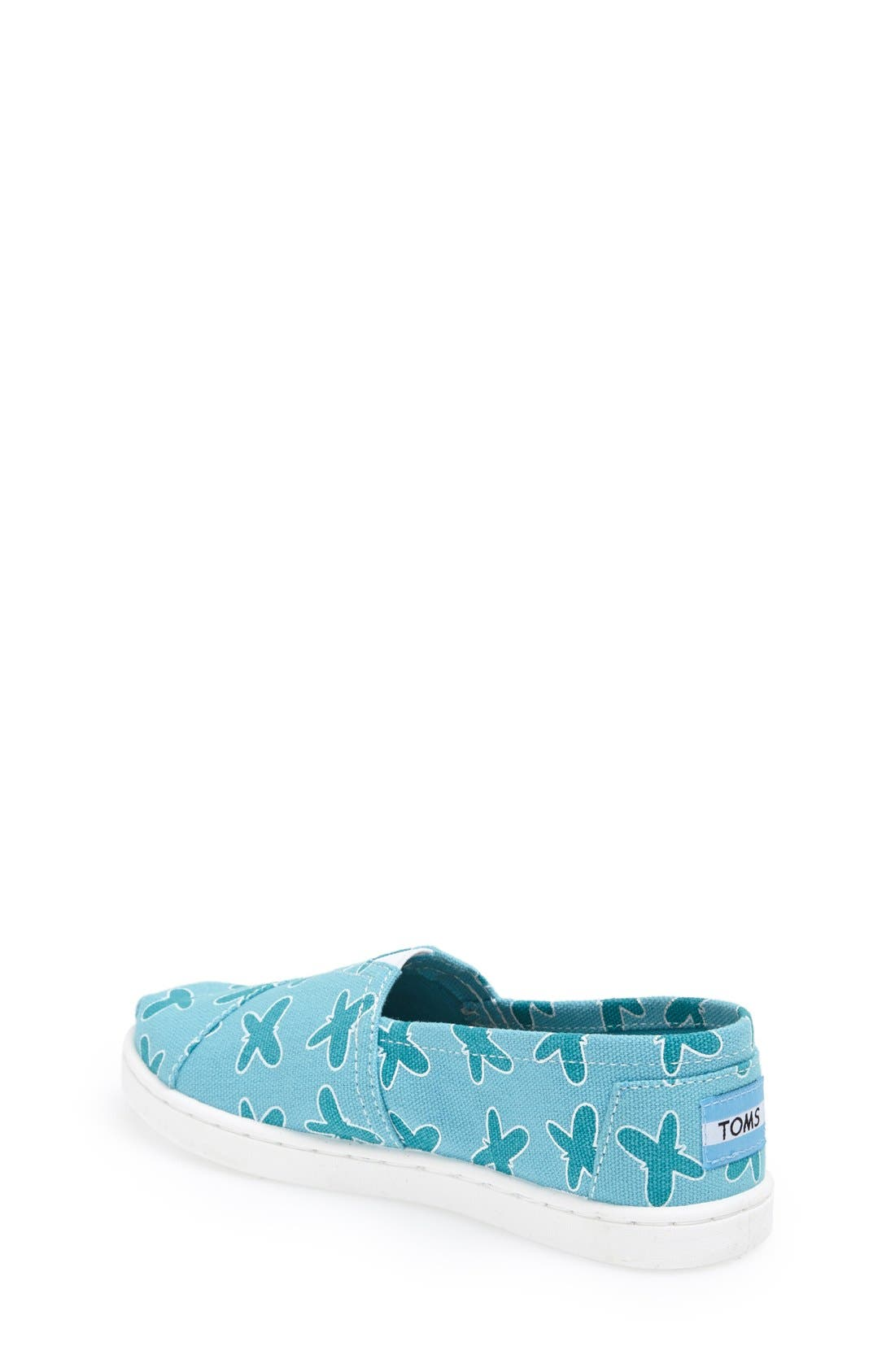 Alternate Image 2  - TOMS 'Classic Youth - Butterfly' Slip-On (Toddler, Little Kid & Big Kid)