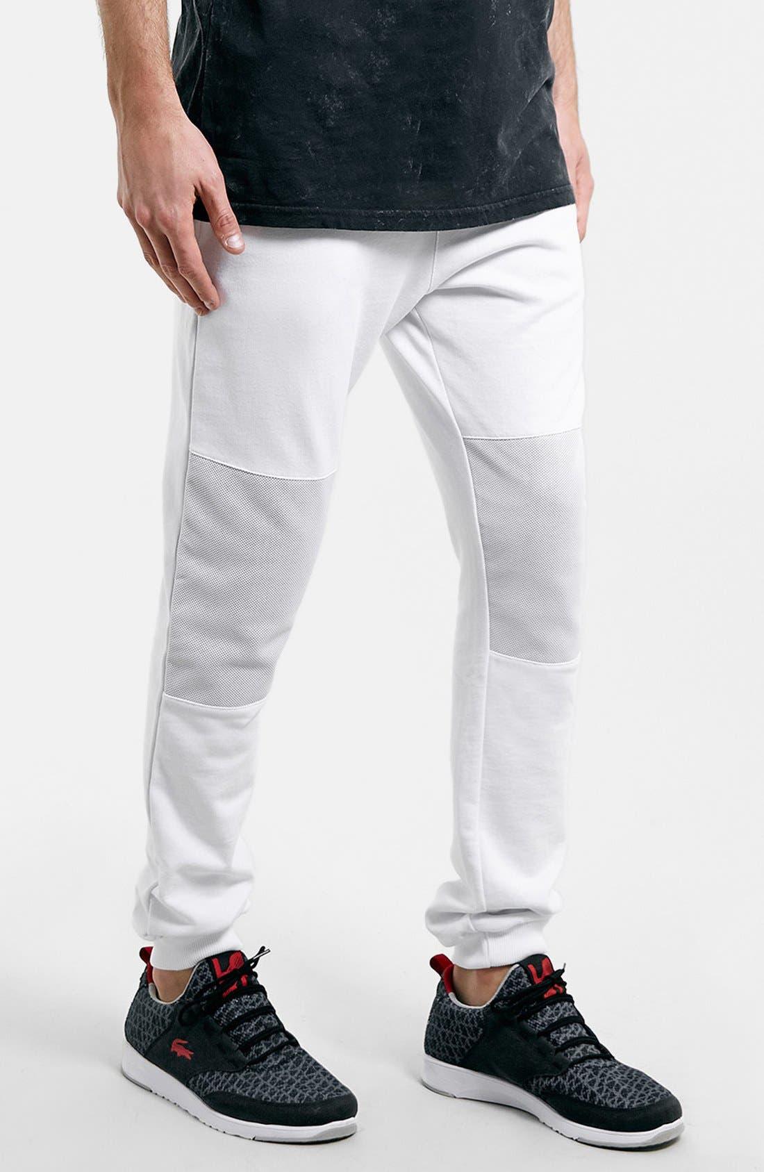 Alternate Image 1 Selected - Topman Mesh Knee Jogger Pants