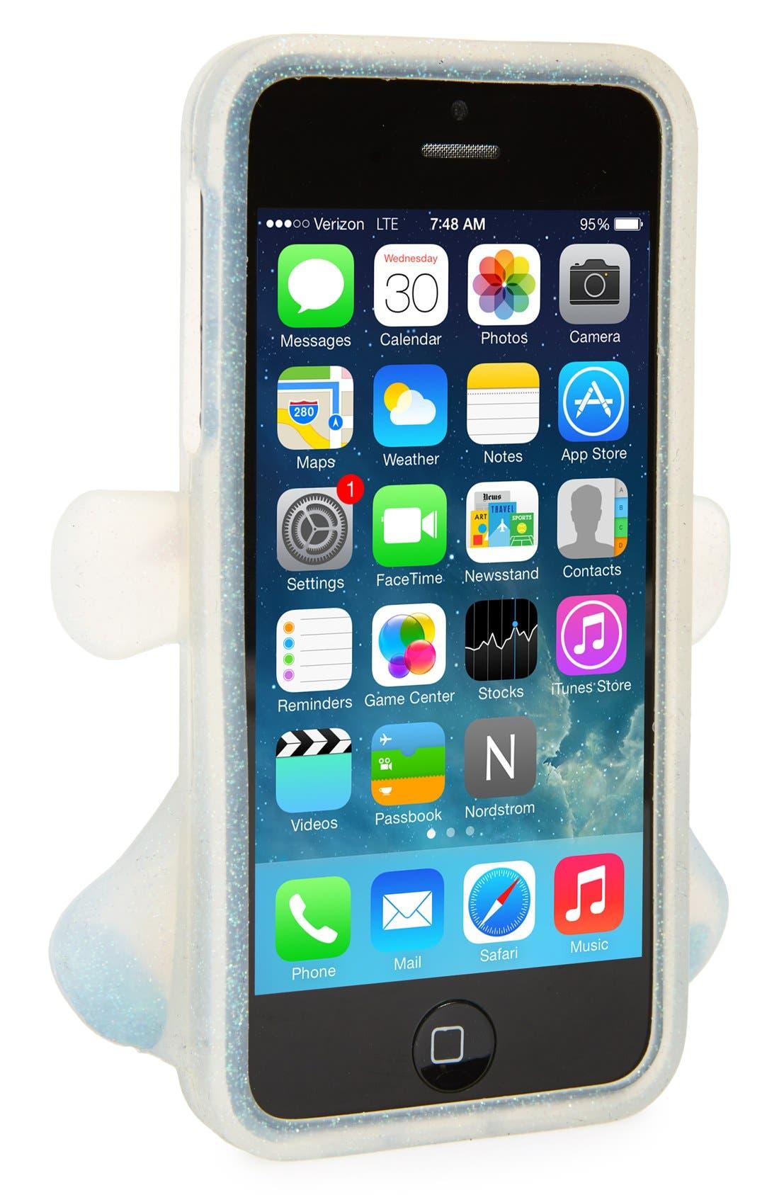 Alternate Image 2  - Moschino 'Teddy Bear Glitter' 3D Rubber iPhone 5 Case