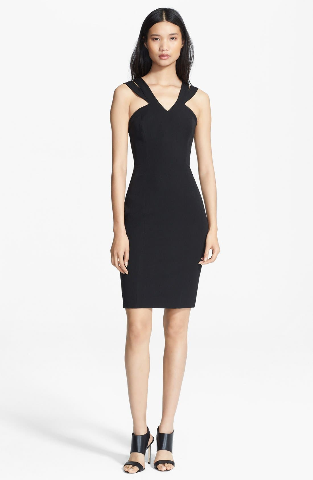 Main Image - Jay Godfrey 'Skoll' Double Strap Stretch Crepe Dress