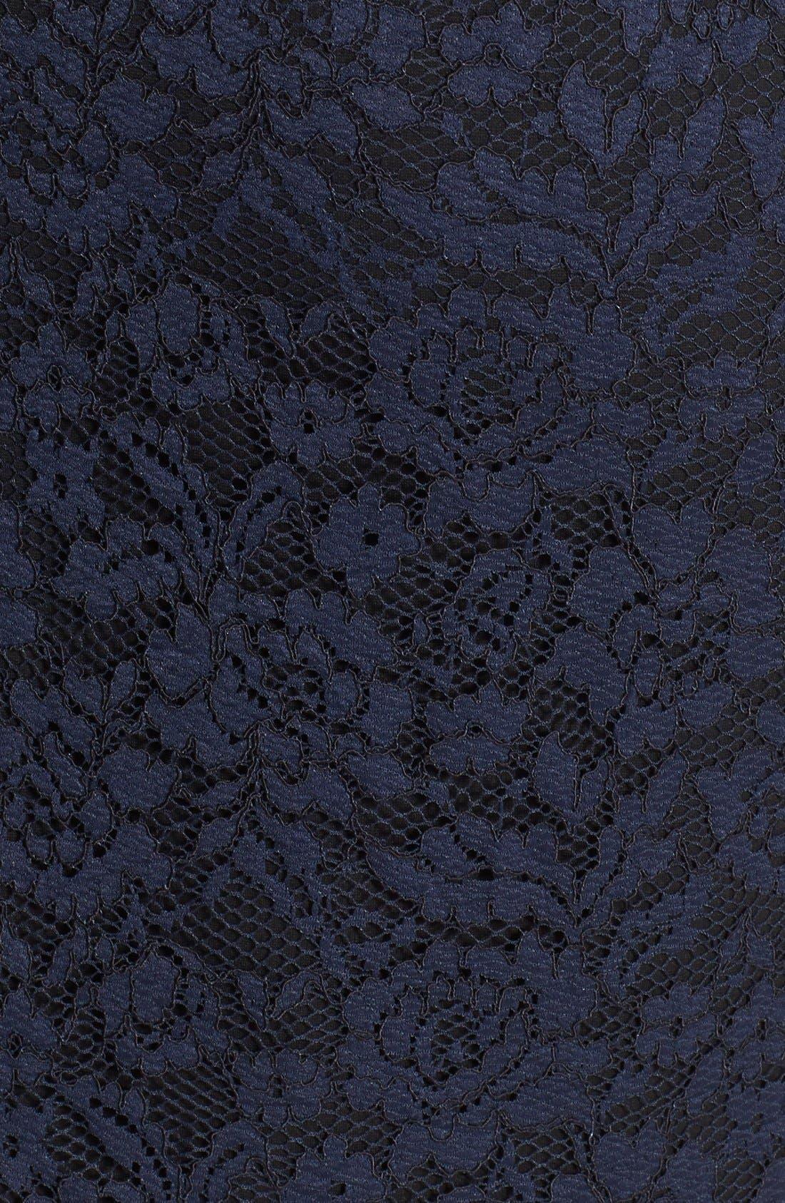Alternate Image 3  - Vince Camuto Lace Overlay Back Zip Skirt (Regular & Petite)