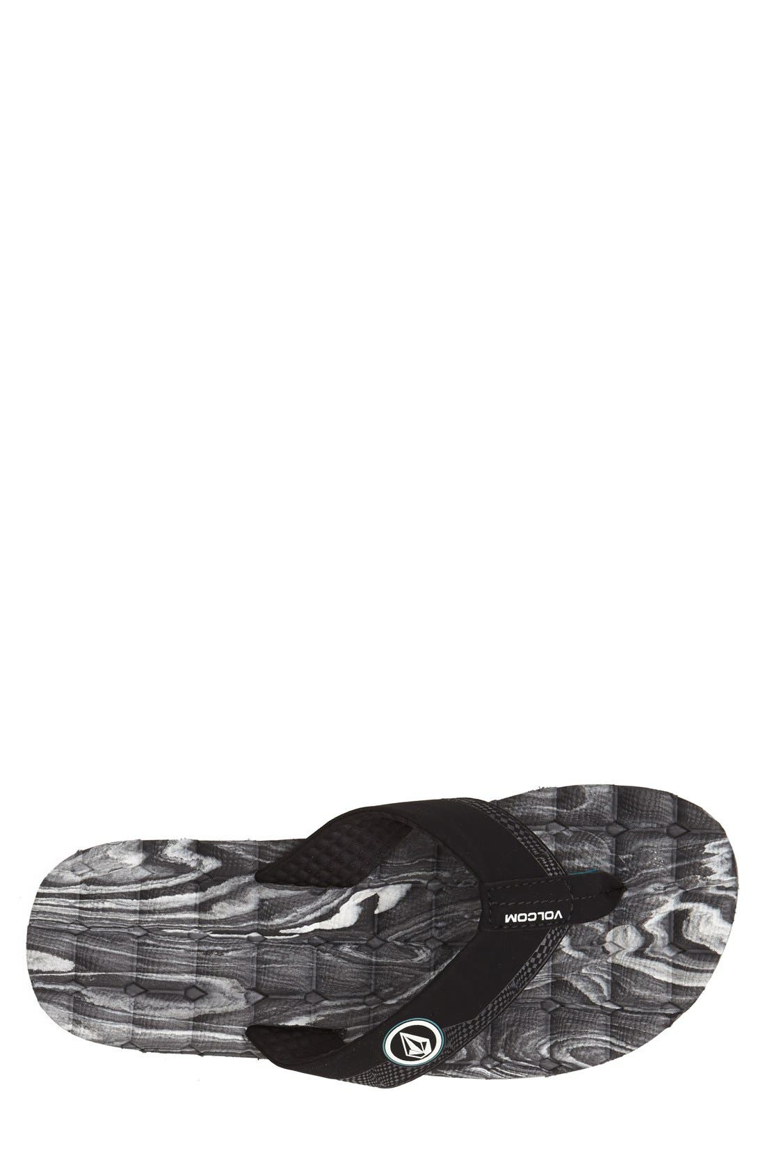 Alternate Image 3  - Volcom 'Recliner' Flip Flop (Men)