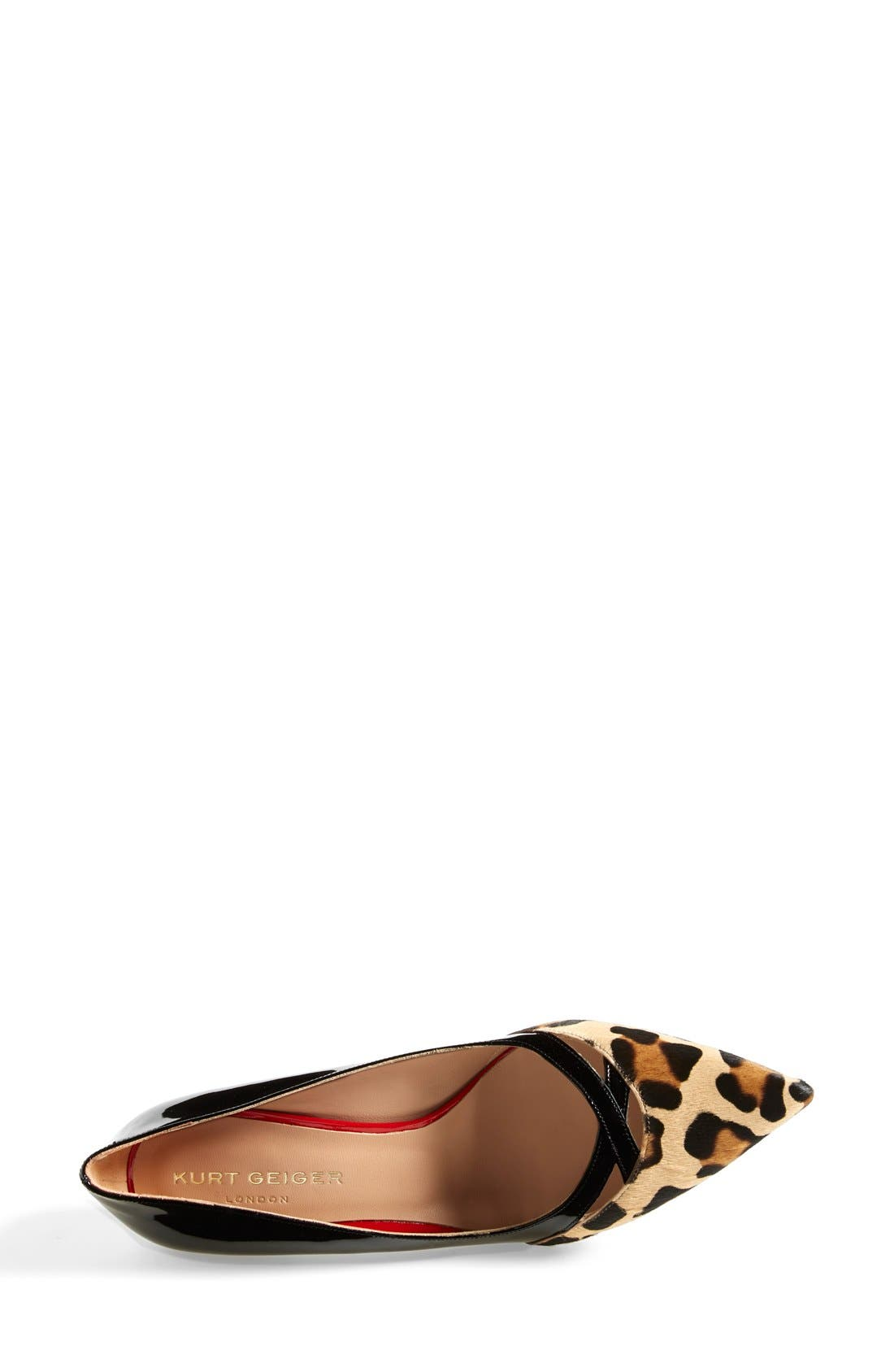 Alternate Image 3  - Kurt Geiger London 'Cassidy Leo' Kitten Heel Pointy Toe Pump (Women)