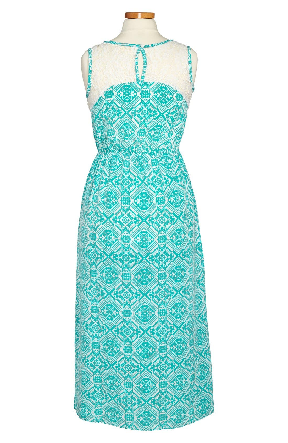 Alternate Image 2  - Soprano Sleeveless Maxi Dress (Big Girls)