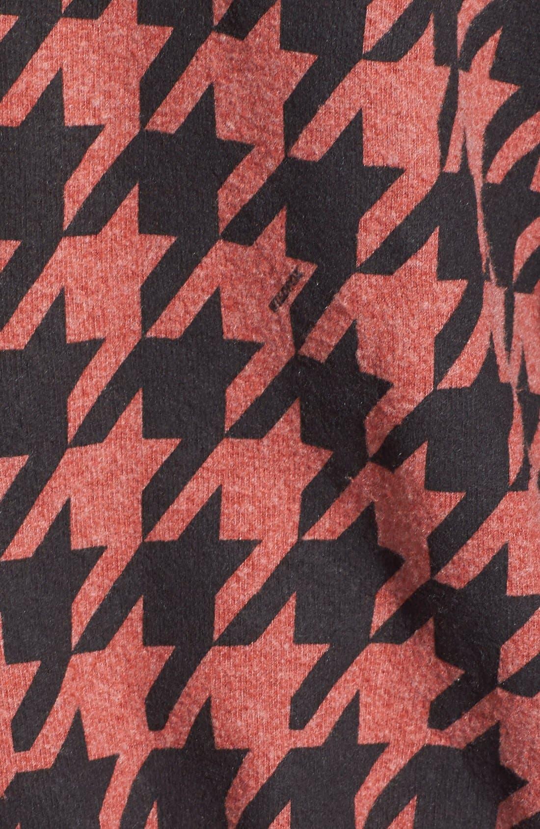Alternate Image 3  - Wildfox 'Fox Tooth Malibu' Houndstooth Print Zip Hoodie