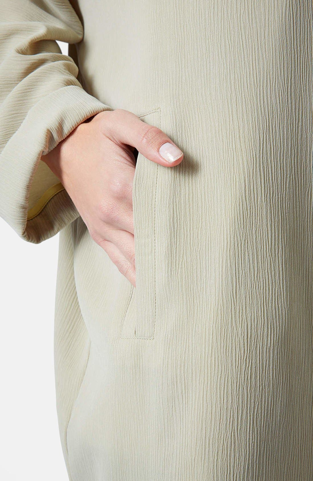 Alternate Image 4  - Topshop Crinkle Duster Jacket