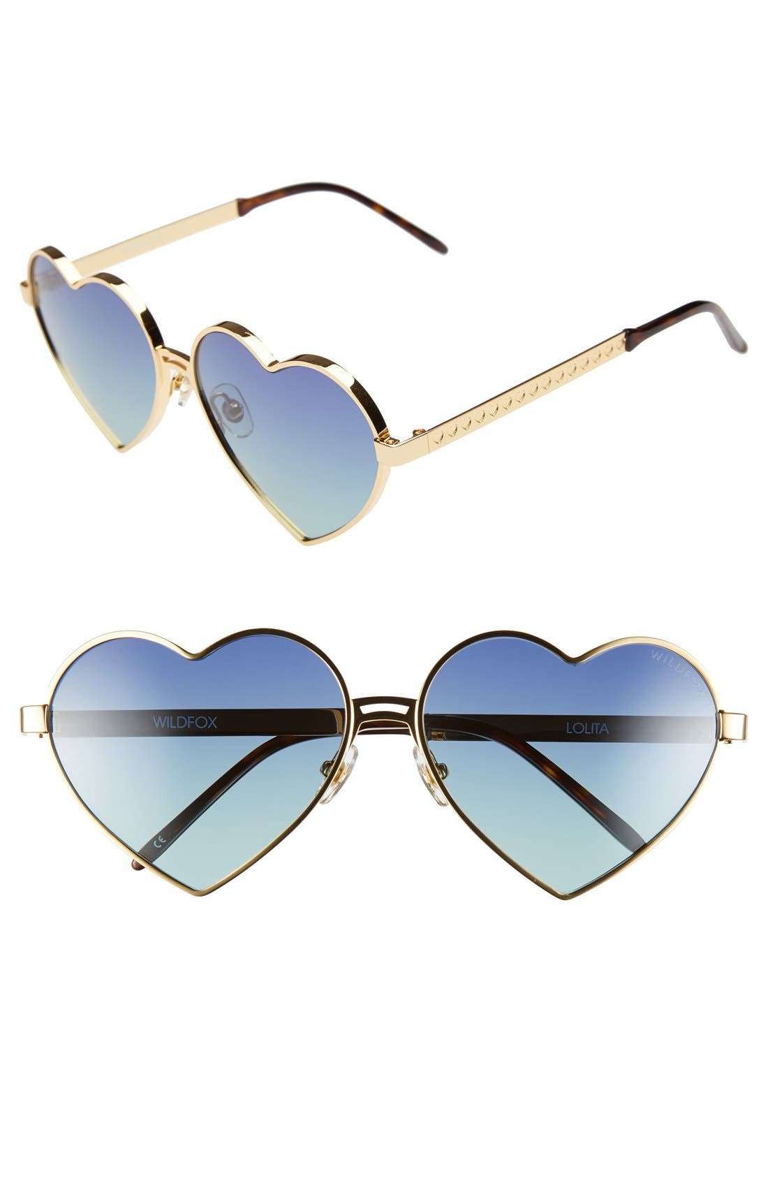 Alternate Image 1 Selected - Wildfox 'Lolita' 59mm Heart Sunglasses