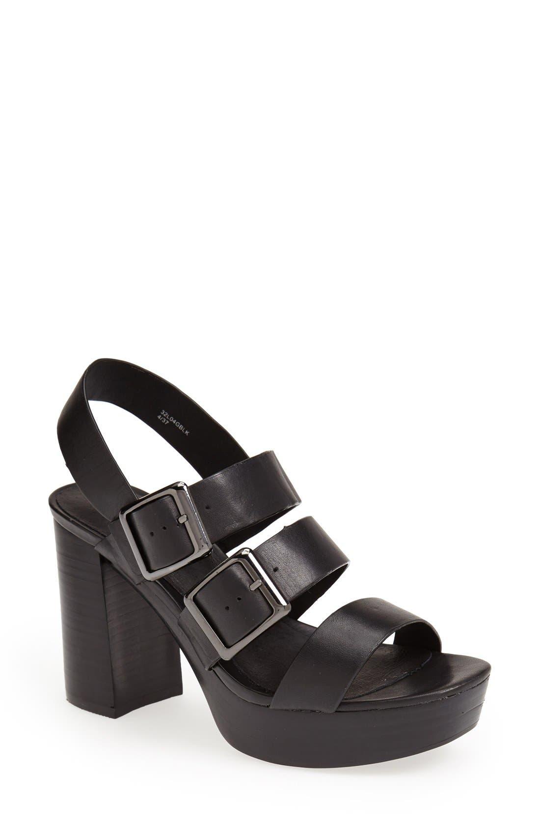 Alternate Image 1 Selected - Topshop 'Lawless' Platform Sandal (Women)