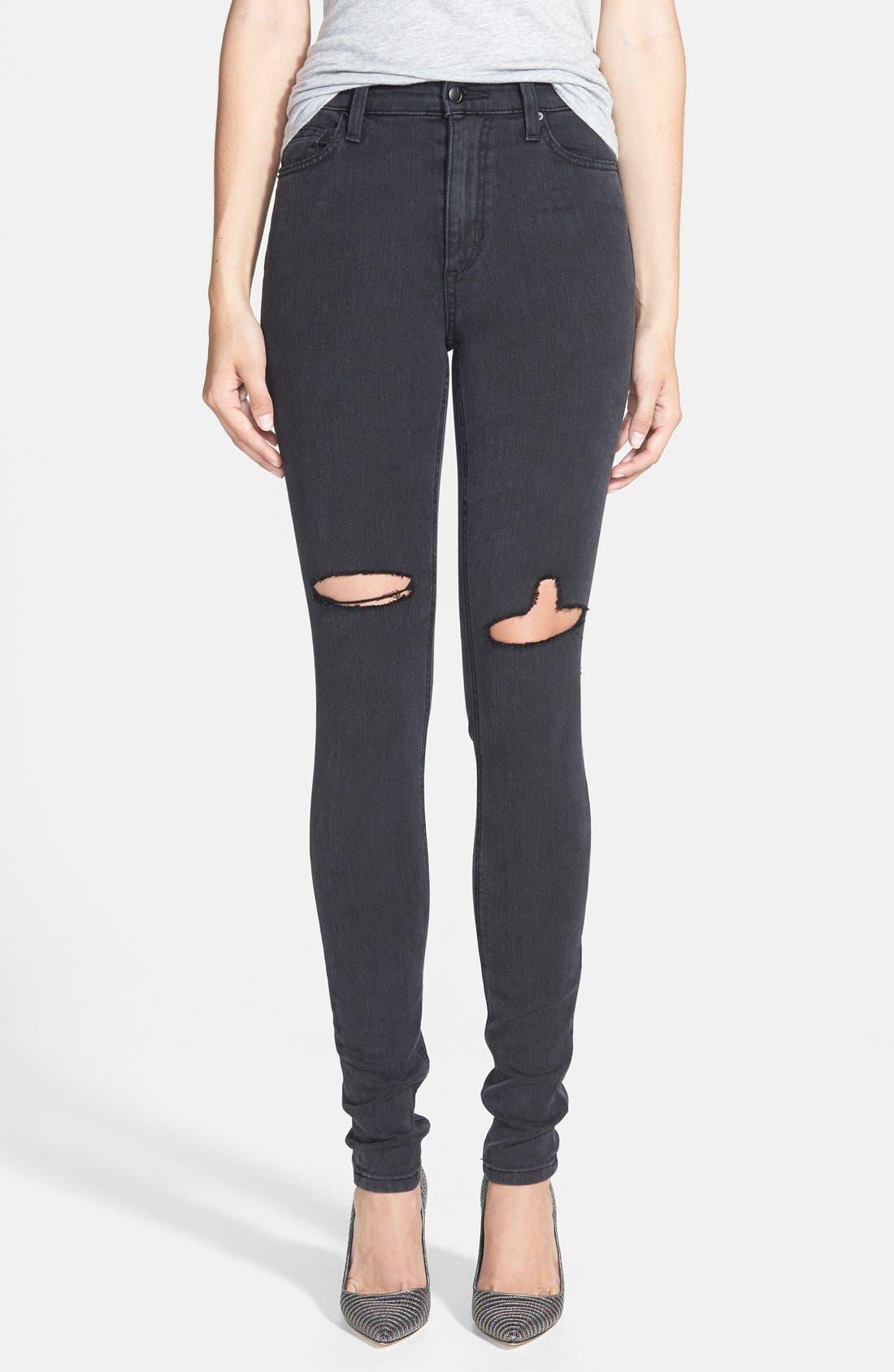 Alternate Image 1 Selected - Joe's High Rise Skinny Jeans (Rhea)