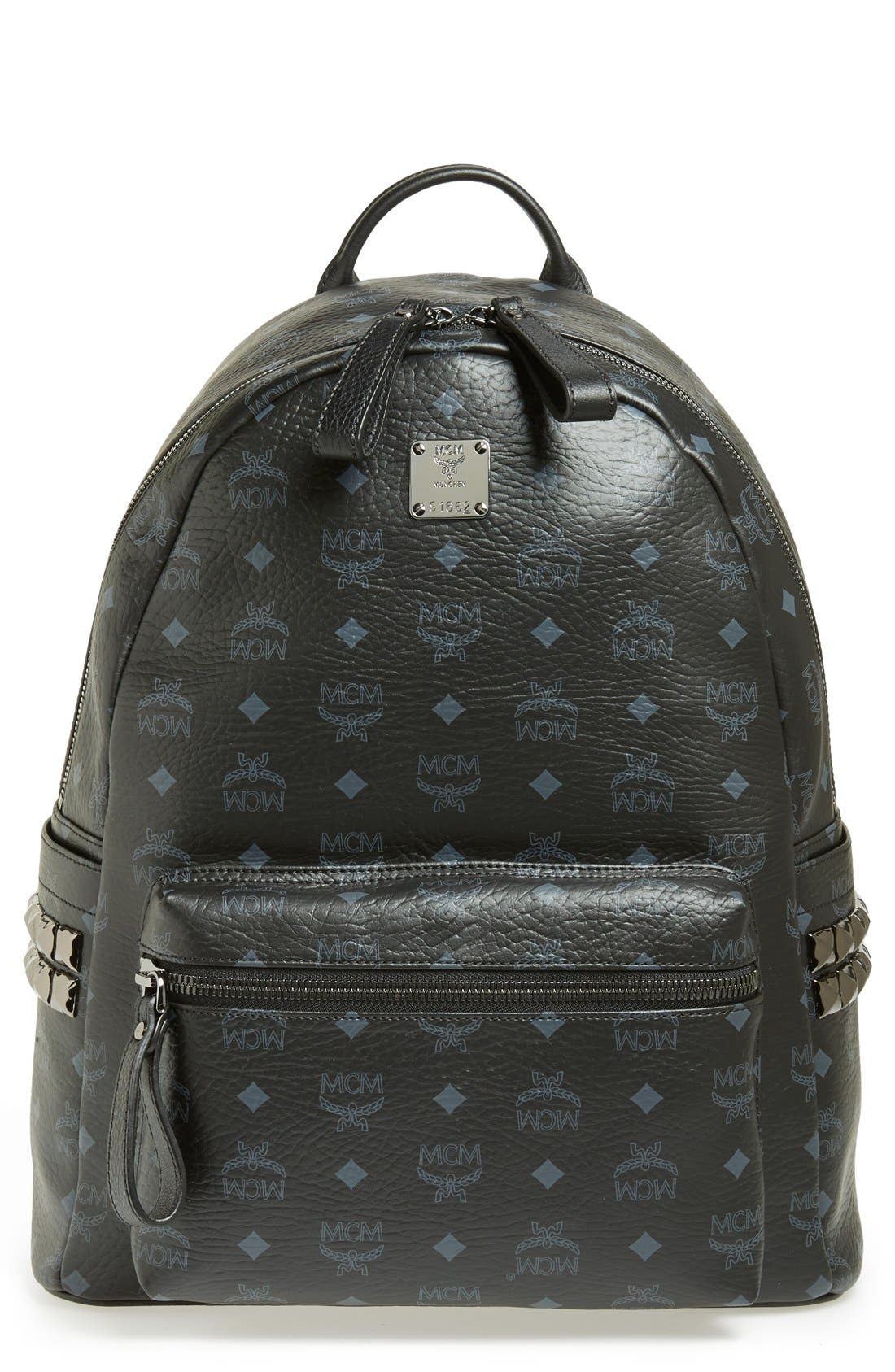 Alternate Image 1 Selected - MCM 'Medium Stark - Visetos' Studded Logo Print Backpack