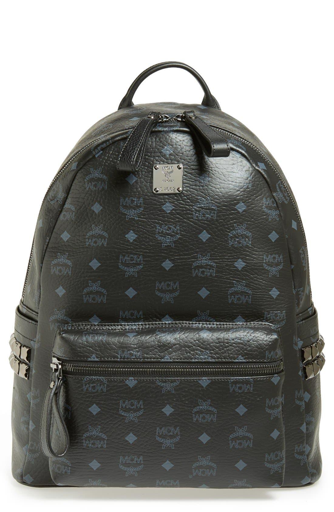 Main Image - MCM 'Medium Stark - Visetos' Studded Logo Print Backpack