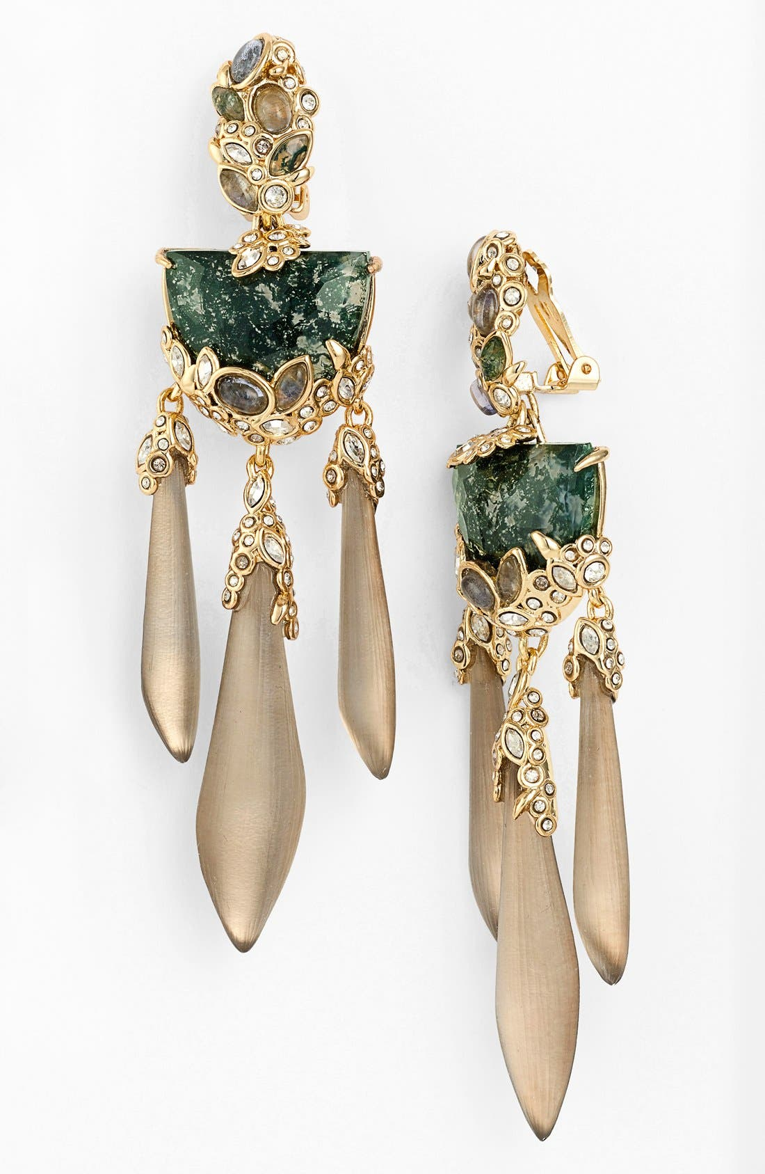 Alternate Image 1 Selected - Alexis Bittar 'Lucite® - Imperial' Chandelier Clip Earrings
