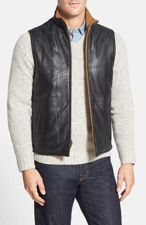Missani Le Collezioni Classic Fit Reversible Leather Vest