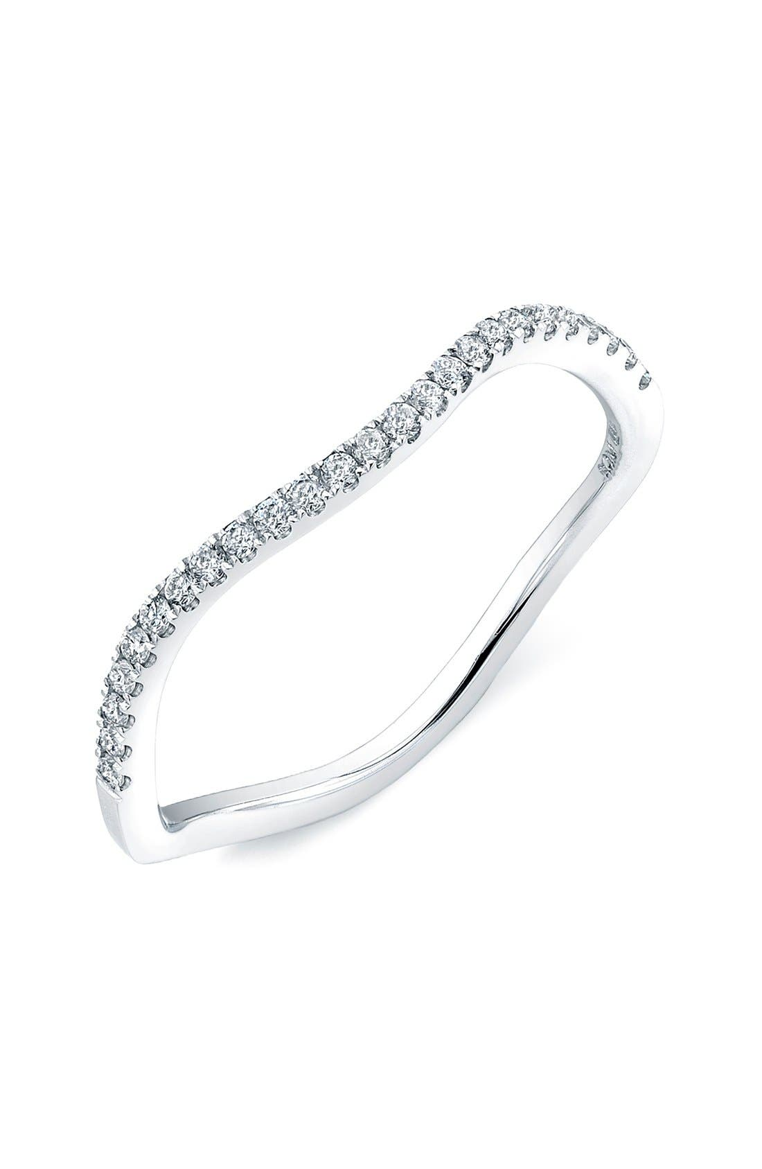 Alternate Image 1 Selected - Bony Levy Stackable Wavy Diamond Ring (Nordstrom Exclusive)