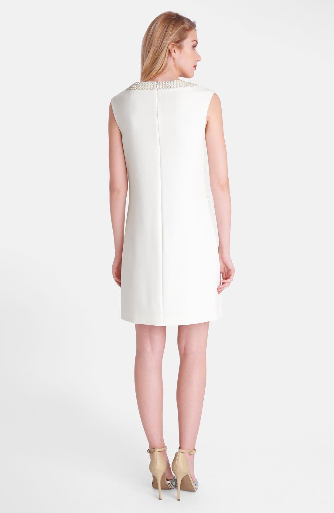 Alternate Image 2  - Tahari Embellished Crepe Shift Dress (Regular & Petite)