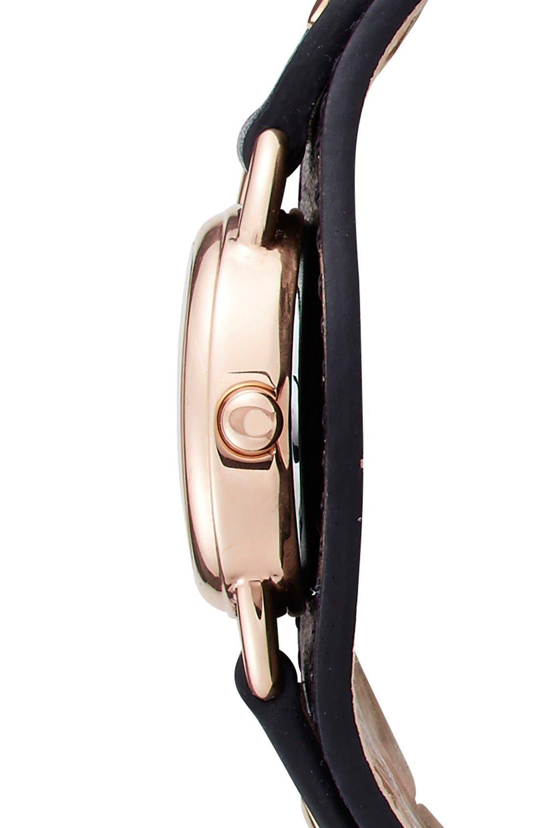 Alternate Image 3  - COACH 'Dree' Leather Cuff Watch, 23mm