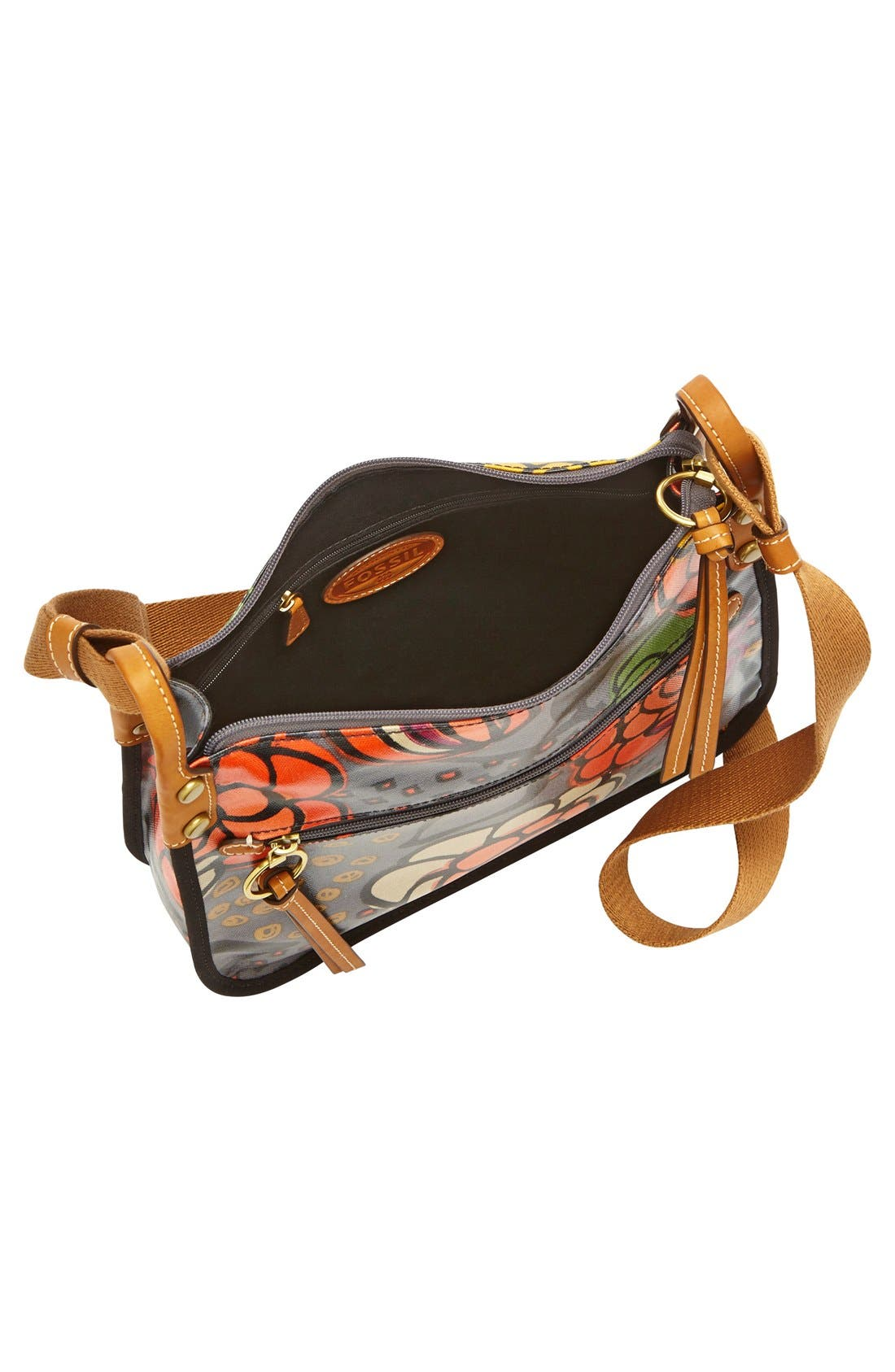 Alternate Image 2  - Fossil 'Key-Per' Print Coated Canvas Crossbody Bag