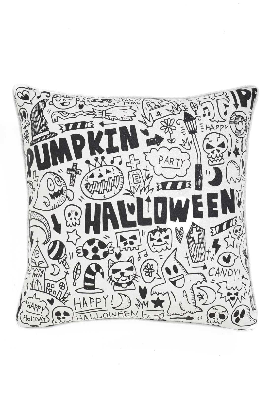 Alternate Image 1 Selected - Levtex 'Halloween Graffiti' Accent Pillow