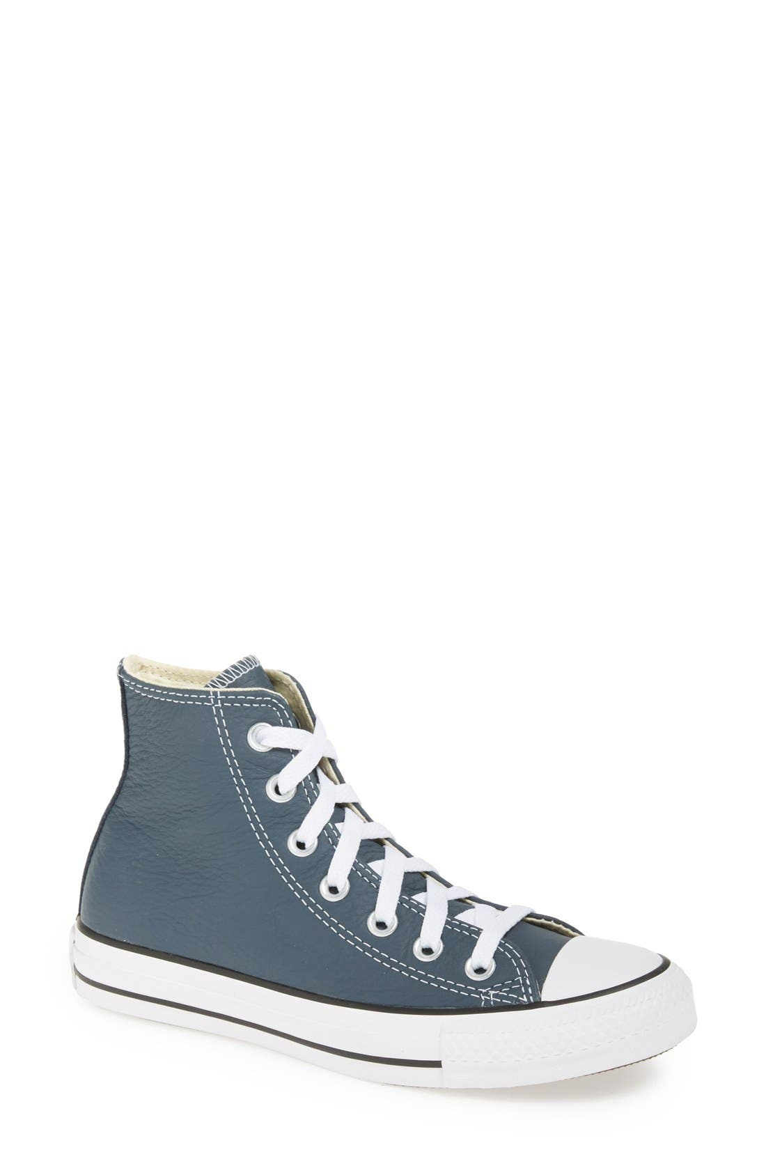 Alternate Image 1 Selected - Converse Chuck Taylor® All Star® High Top Leather Sneaker (Women)