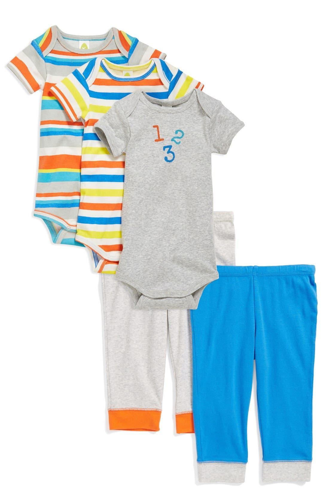 Alternate Image 2  - Stem Baby Colorblock Organic Cotton Pants (Set of 2) (Baby Boys) (Nordstrom Exclusive)