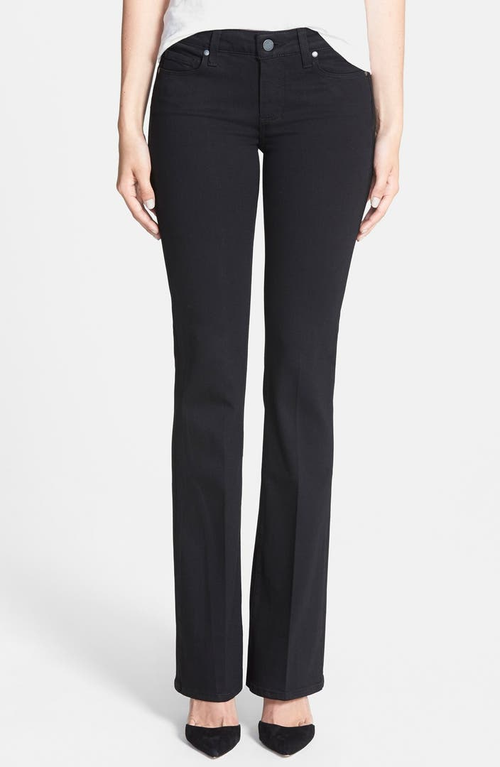 PAIGE Transcend - Skyline Bootcut Jeans (Black Shadow) | Nordstrom