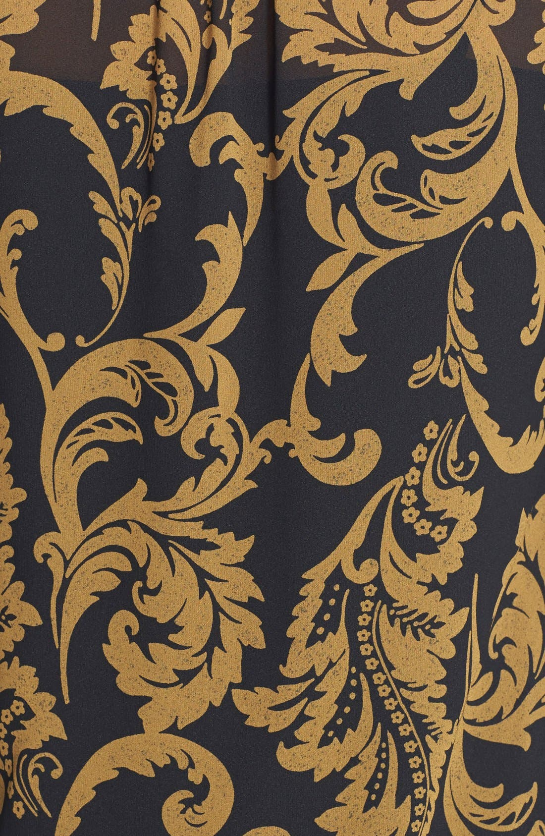 Alternate Image 4  - CeCe by Cynthia Steffe 'Kai' Print Chiffon Tunic Dress