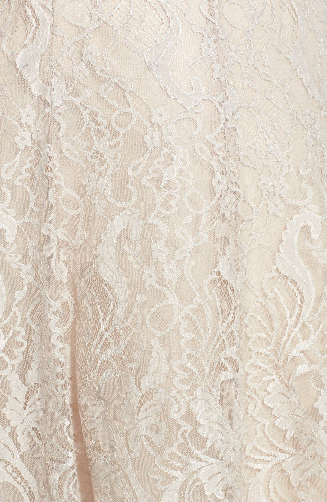 Alternate Image 4  - Jim Hjelm Occasions Strapless Lace A-Line Dress