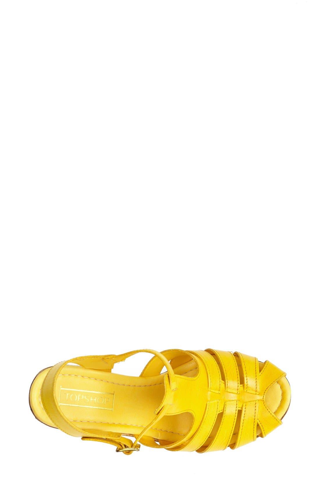 Alternate Image 3  - Topshop 'Notch' Strappy Sandal (Women)