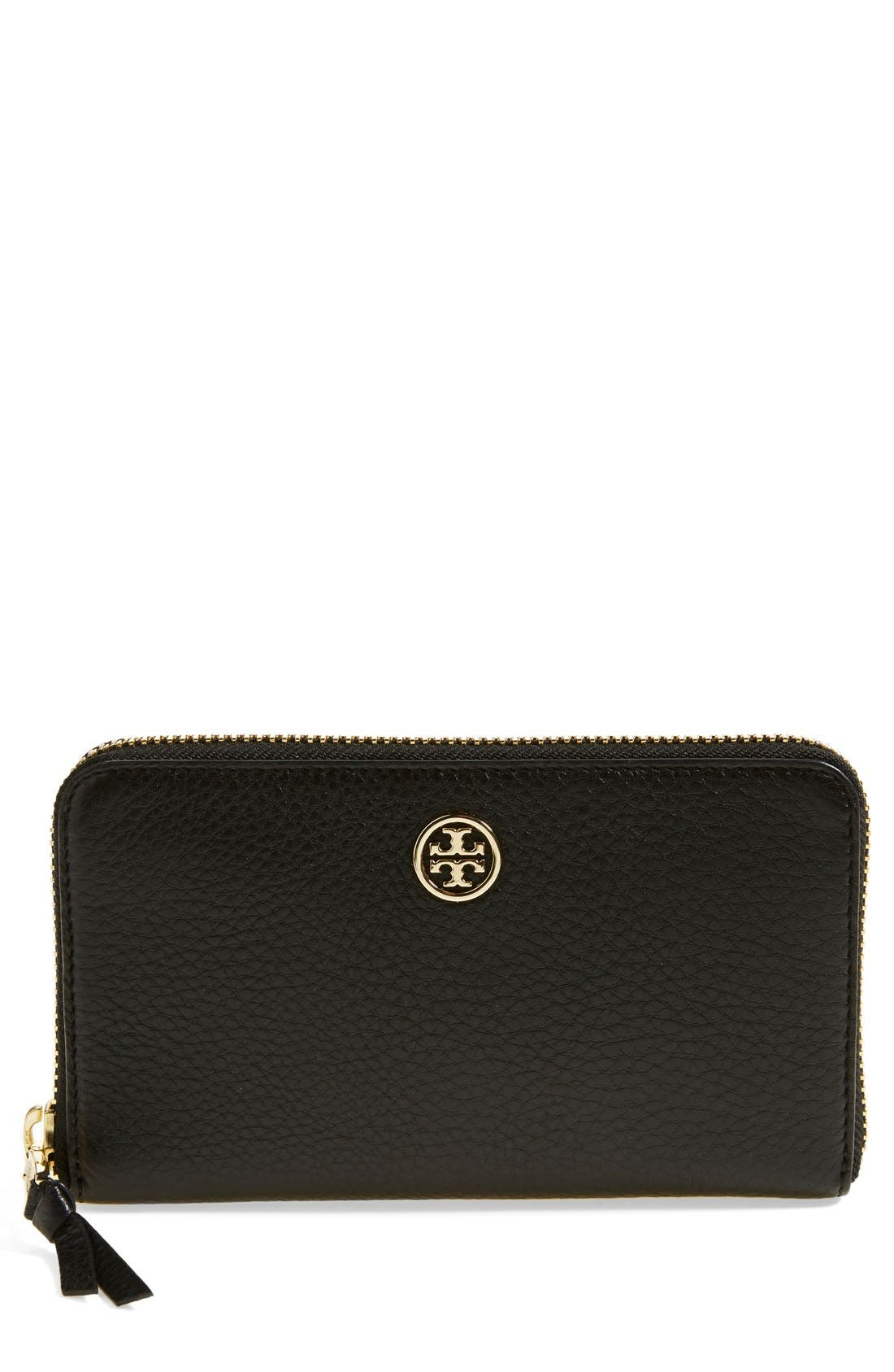Alternate Image 1 Selected - Tory Burch 'Robinson' Continental Leather Wallet