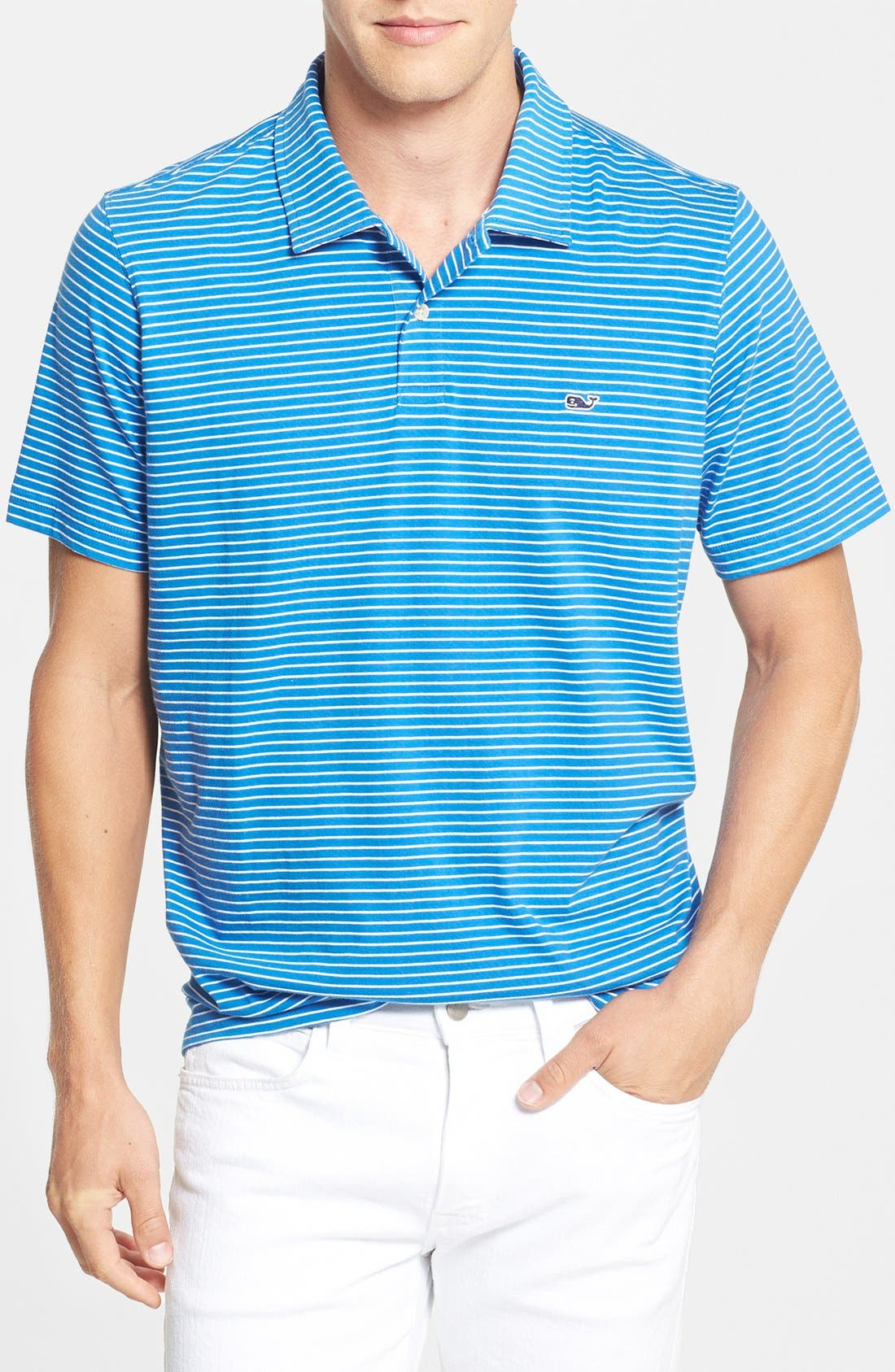 Main Image - Vineyard Vines 'Rigsby' Stripe Jersey Polo