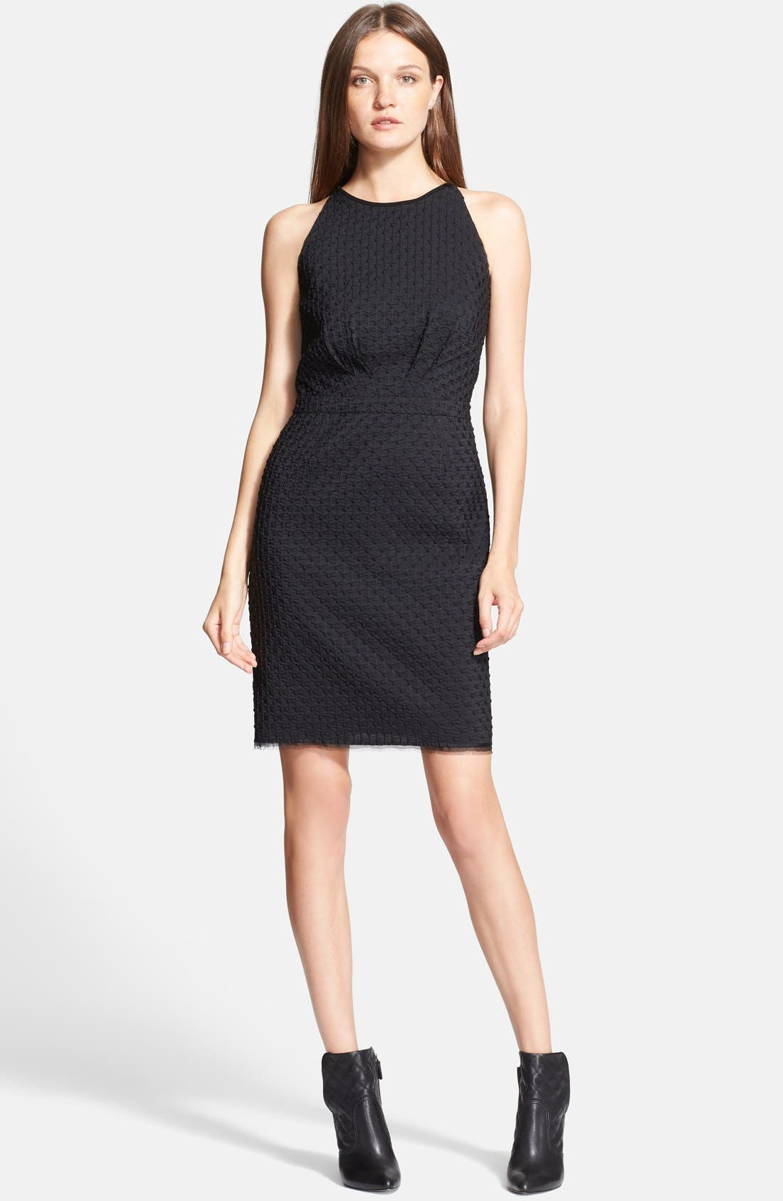Main Image - Tory Burch 'Ivana' Corded Dot Sheath Dress