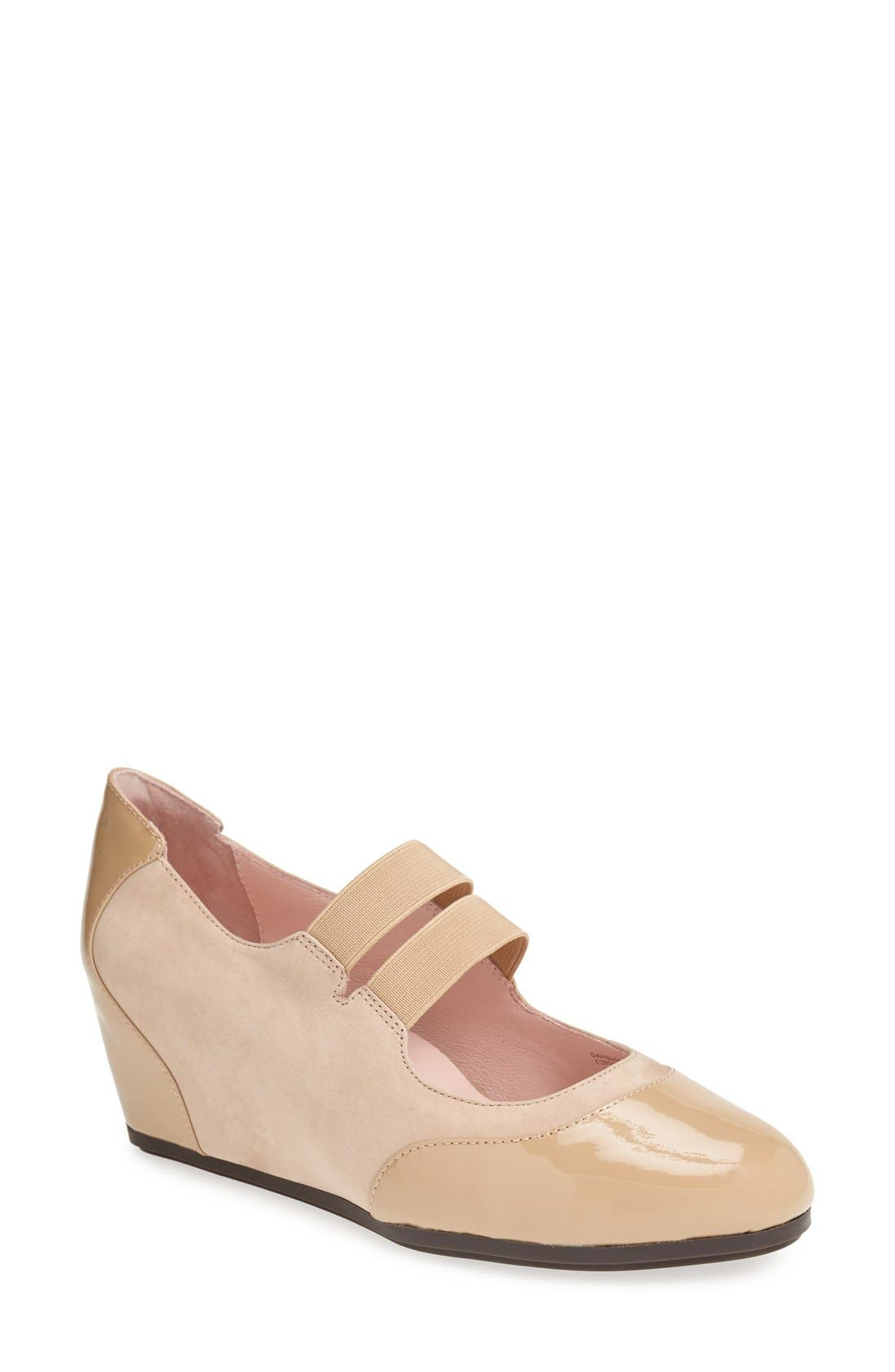 Alternate Image 1 Selected - Taryn Rose 'Danelle' Leather Wedge Pump (Women)