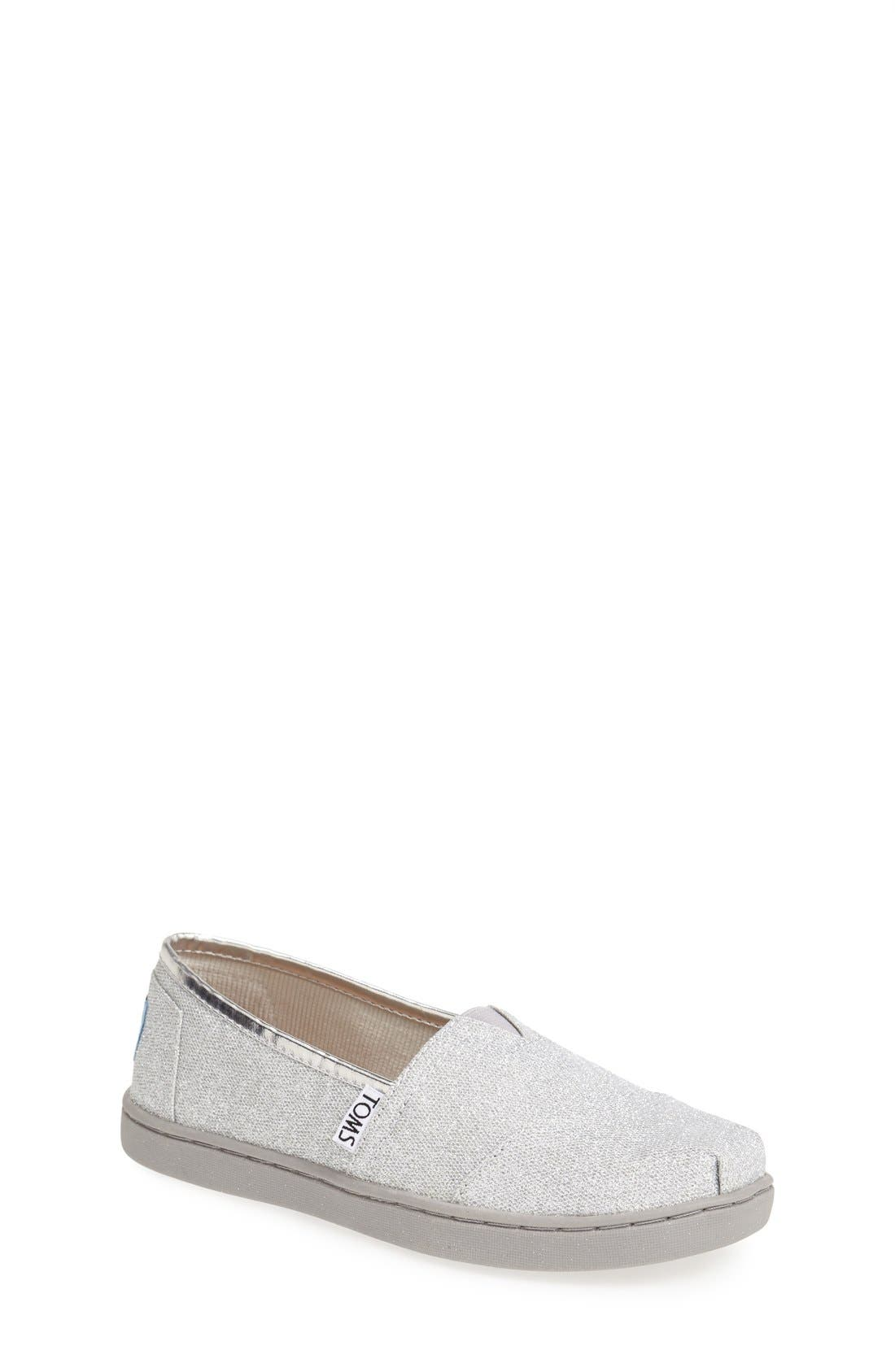 Alternate Image 1 Selected - TOMS 'Classic Youth - Glitter' Slip-On (Toddler, Little Kid & Big Kid)