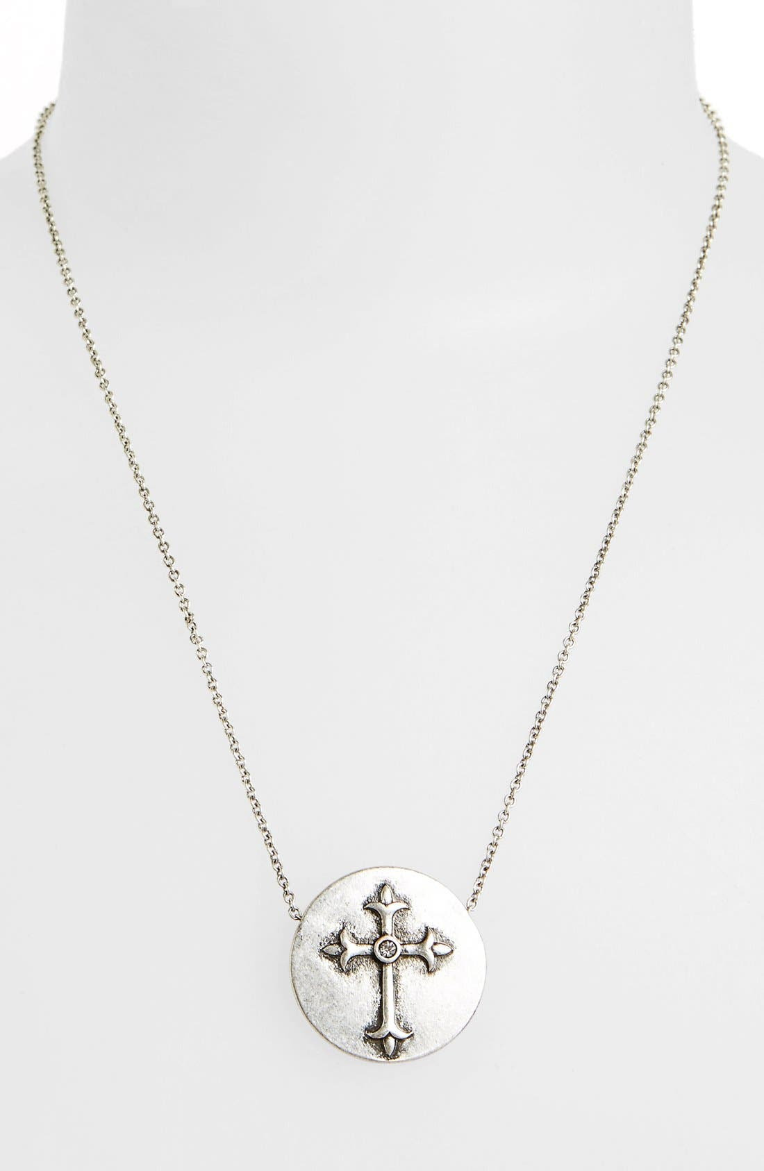 Alternate Image 1 Selected - Berry 'Cross' Pendant Necklace