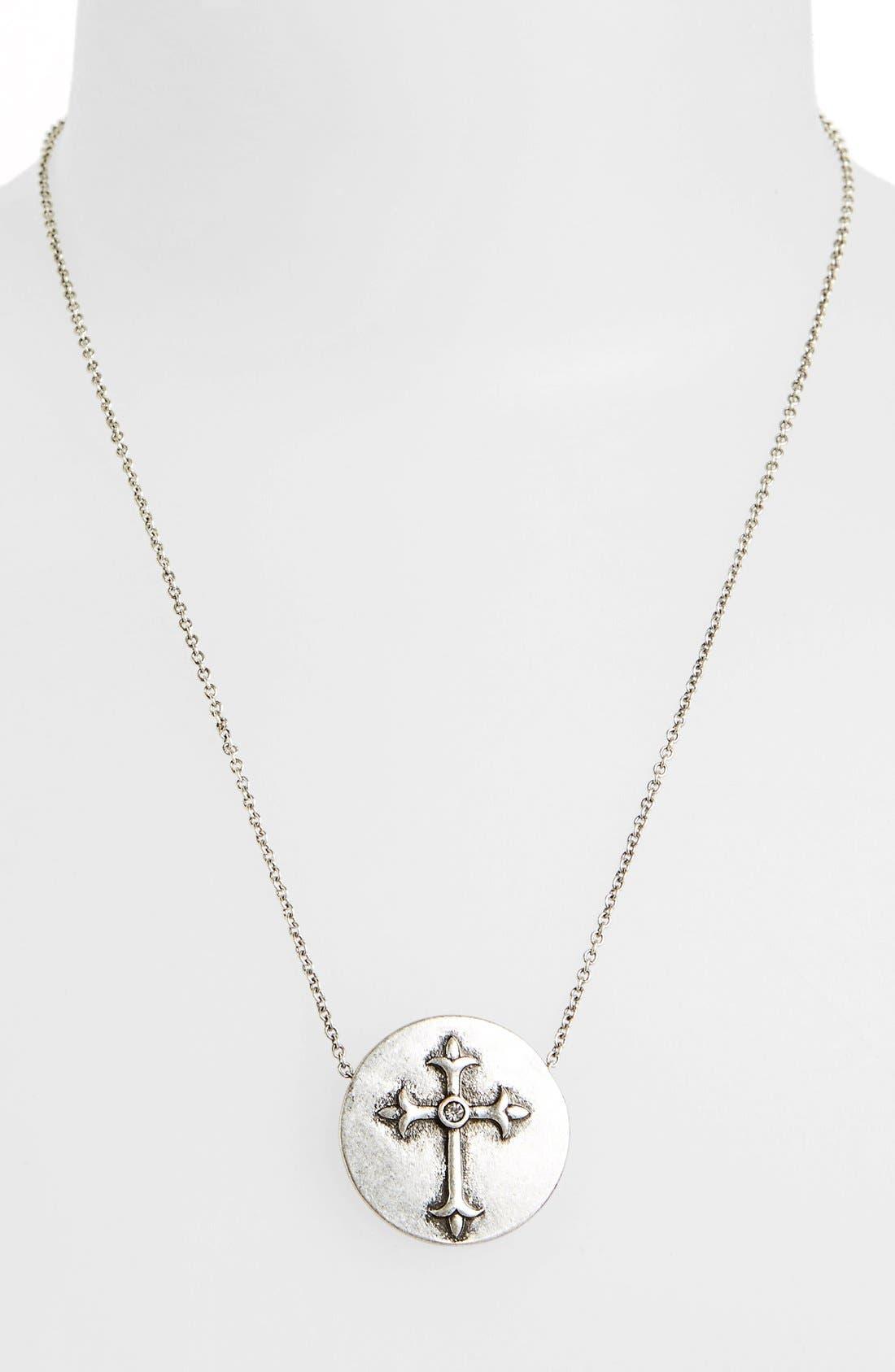Main Image - Berry 'Cross' Pendant Necklace