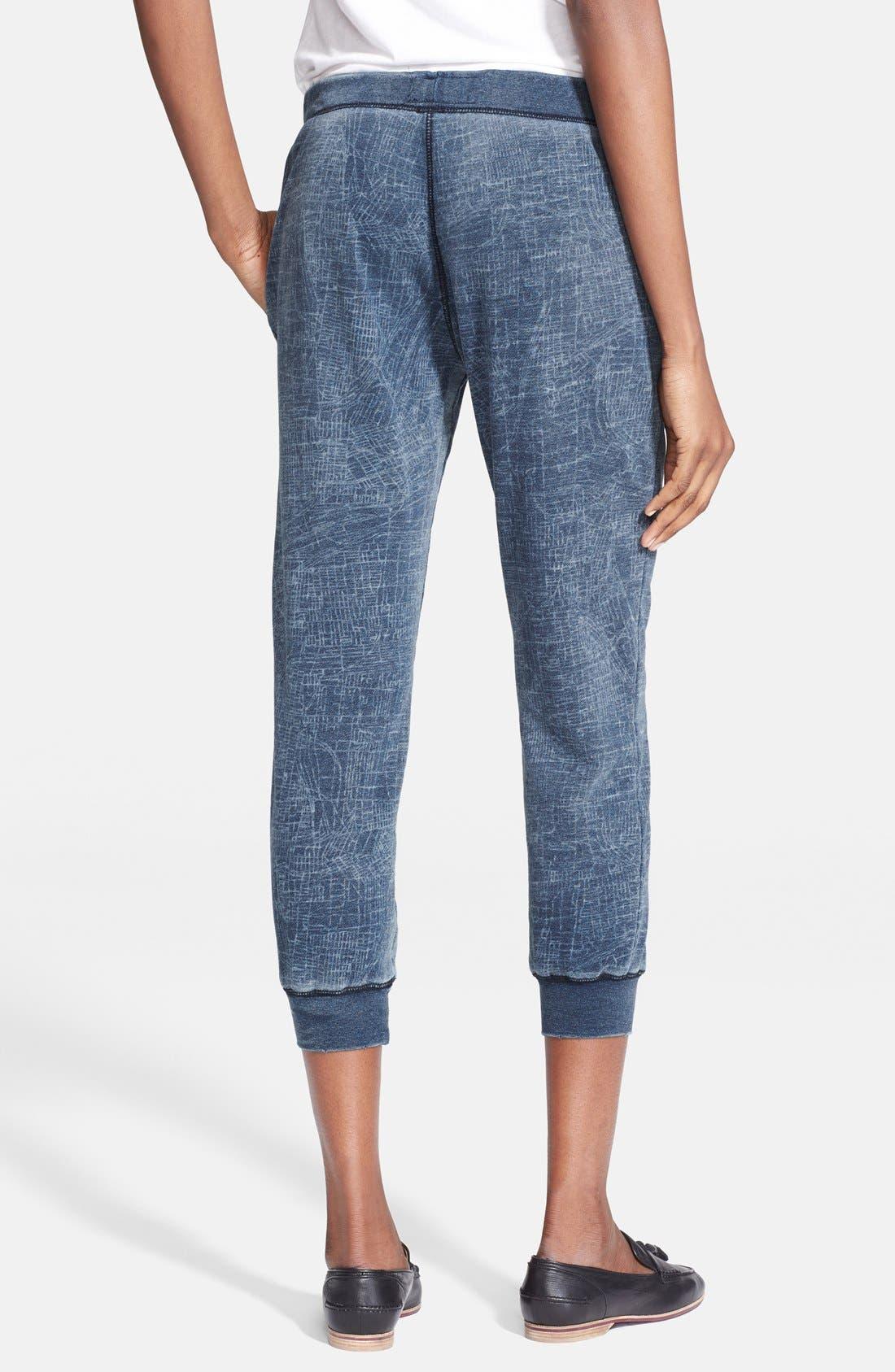 Alternate Image 2  - Current/Elliott 'The Slim Vintage' Cropped Sweatpants