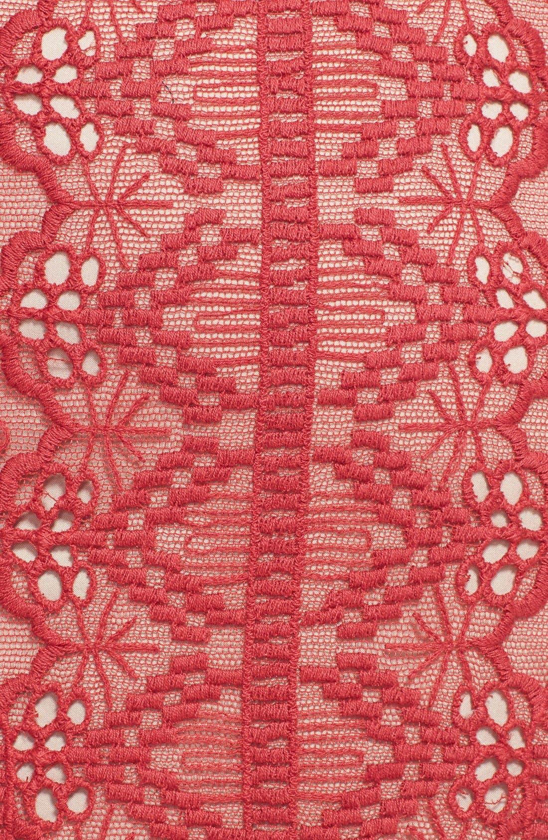 Alternate Image 3  - Korovilas 'Estella' Embroidered Lace Sheath Dress