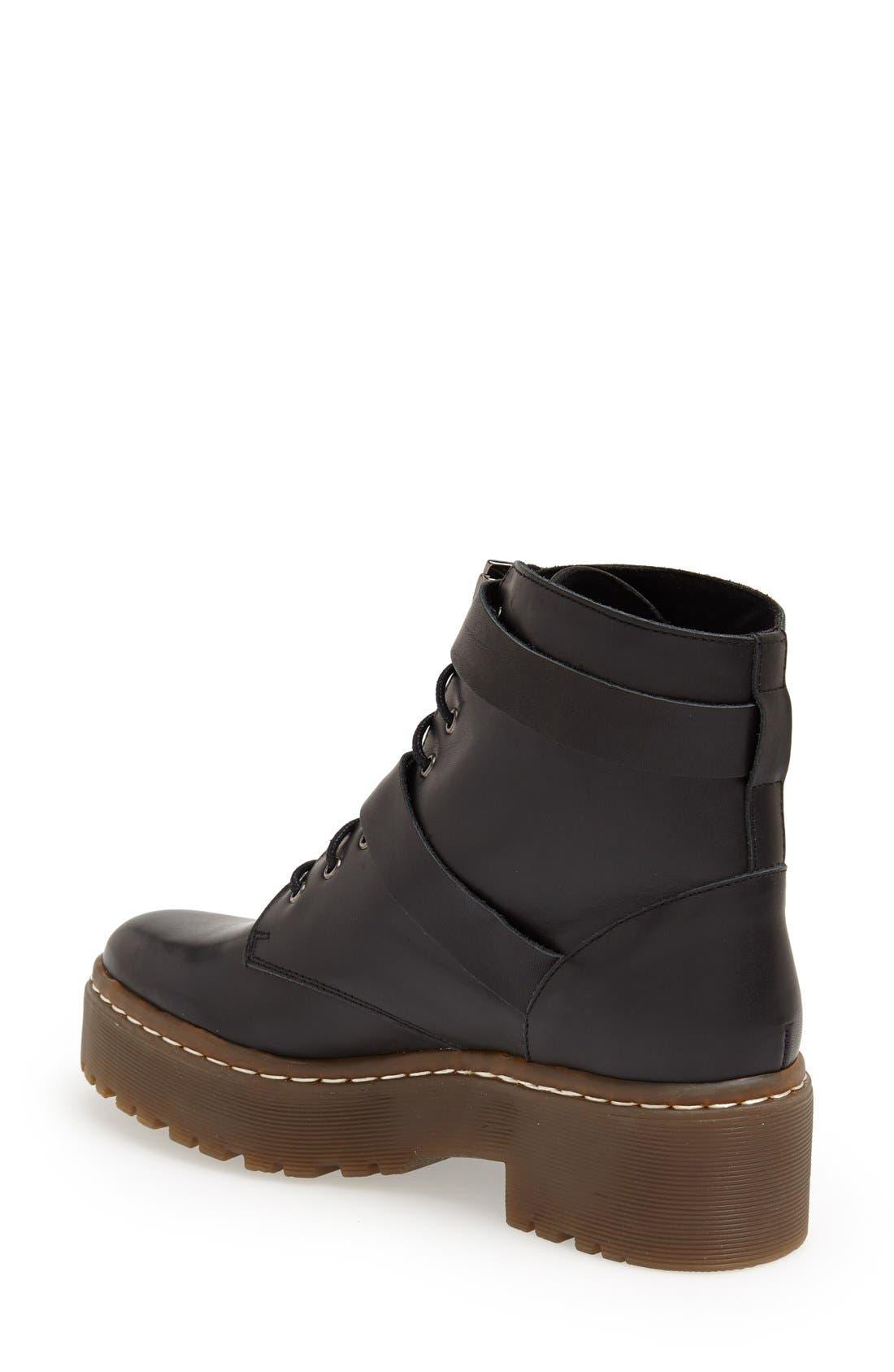 Alternate Image 2  - Topshop 'Auction' Lace-Up Platform Boot (Women)