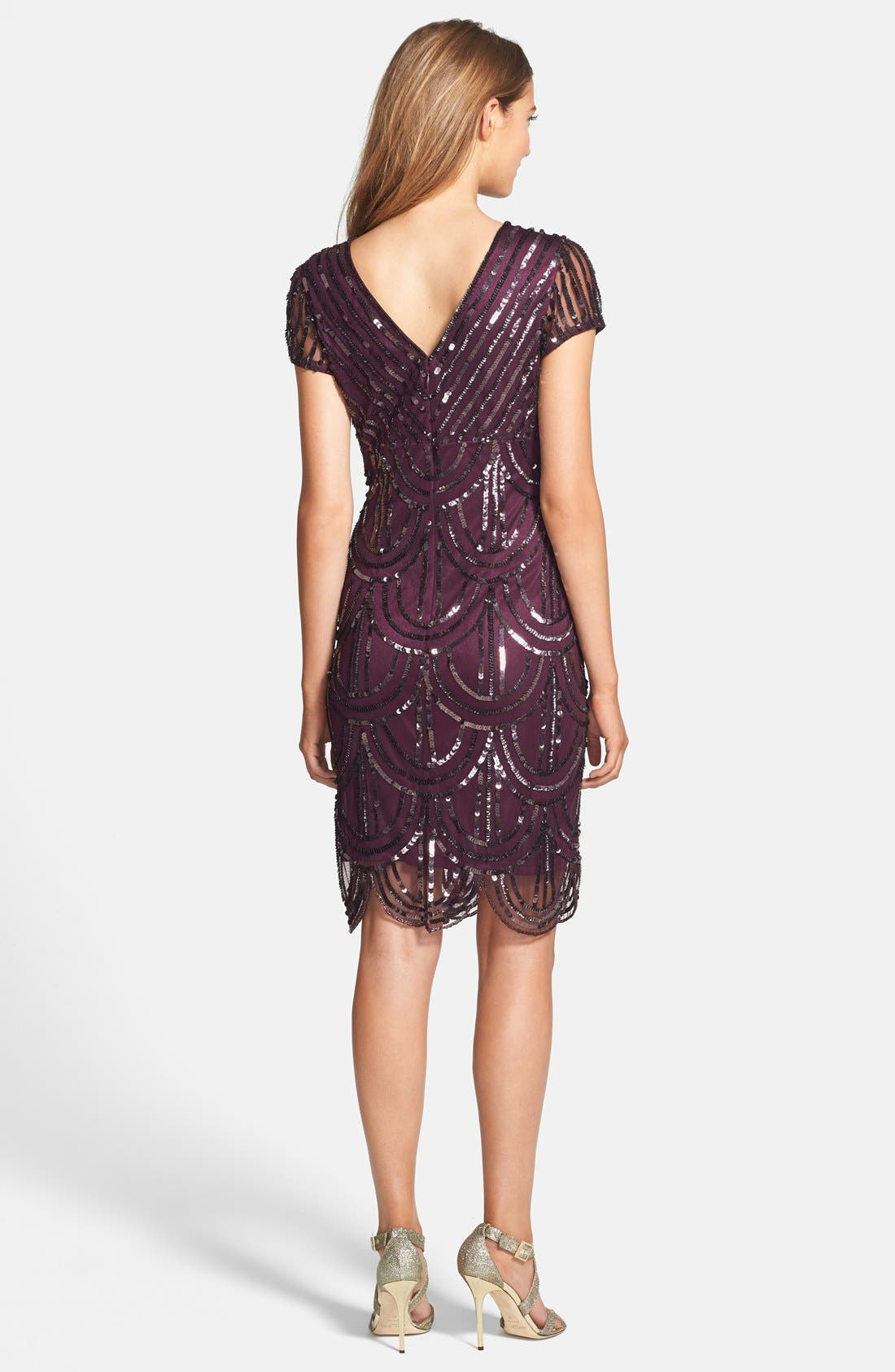 Alternate Image 2  - Marina Sequin Surplice Sheath Dress