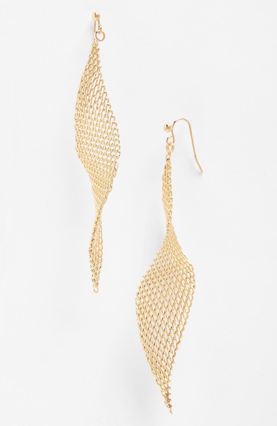 Jules Smith Mesh Fan Drop Earrings