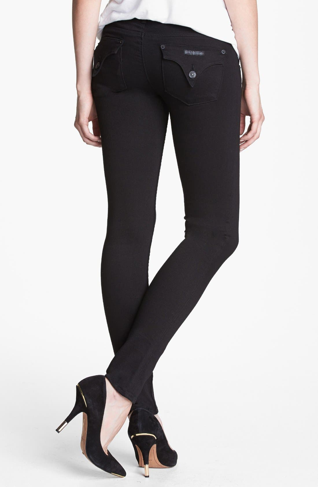 Alternate Image 2  - Hudson Jeans 'Collin' Skinny Jeans (Black)