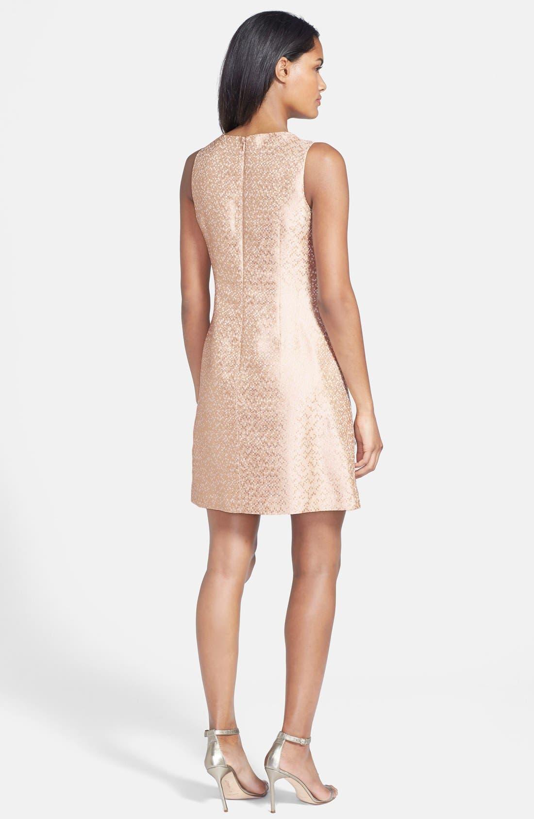Alternate Image 2  - Eliza J Embellished Jacquard Shift Dress