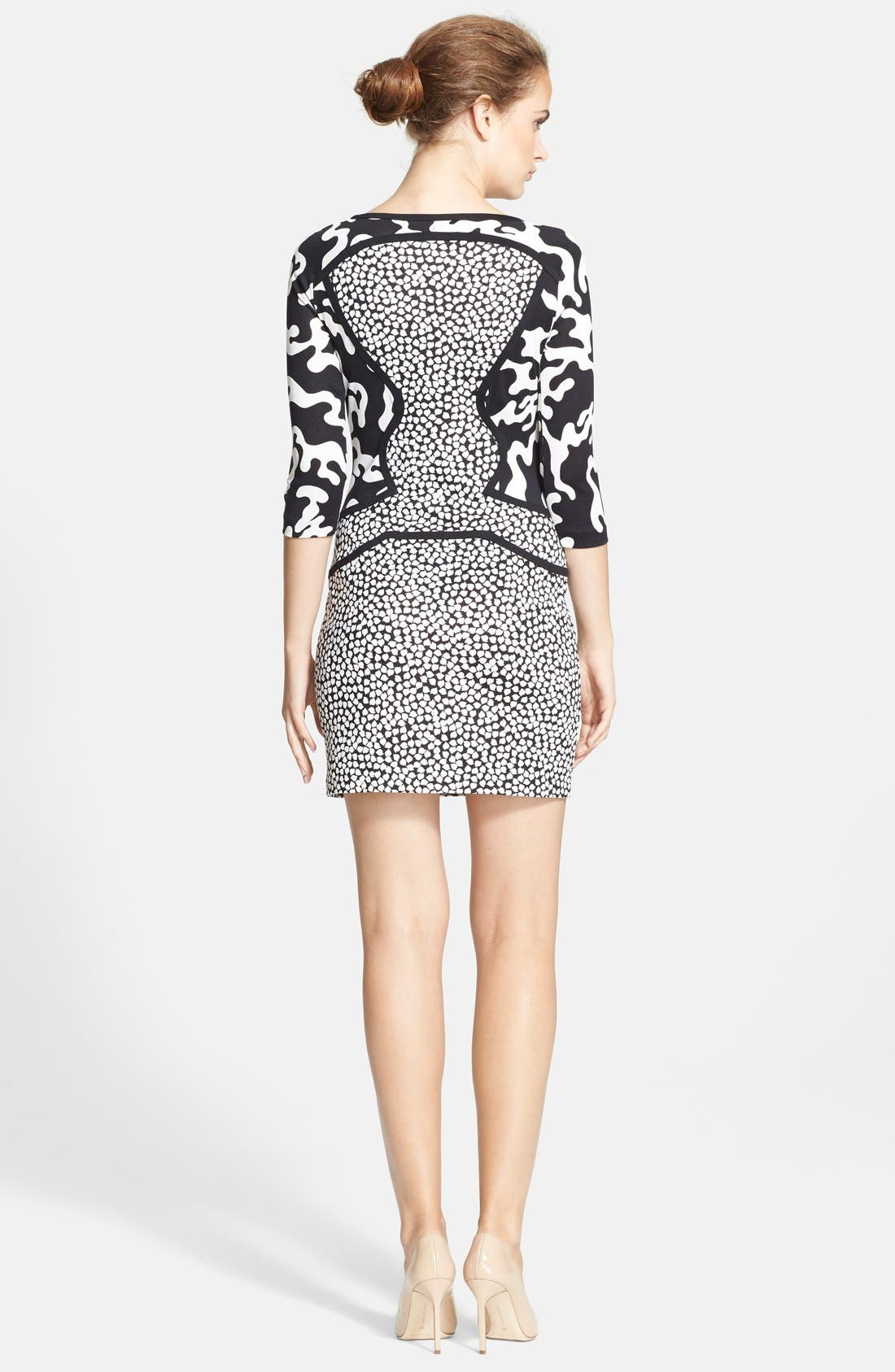 Alternate Image 2  - Diane von Furstenberg Three Quarter Sleeve Shift Dress