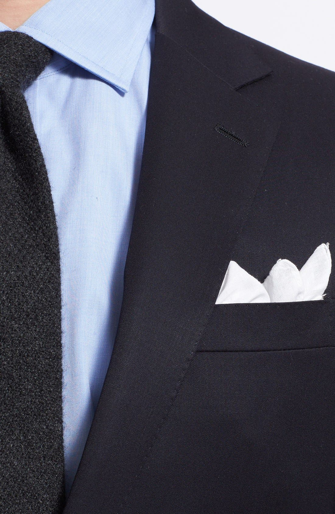 Alternate Image 3  - Ralph Lauren Black Label Trim Fit Navy Wool Sport Coat