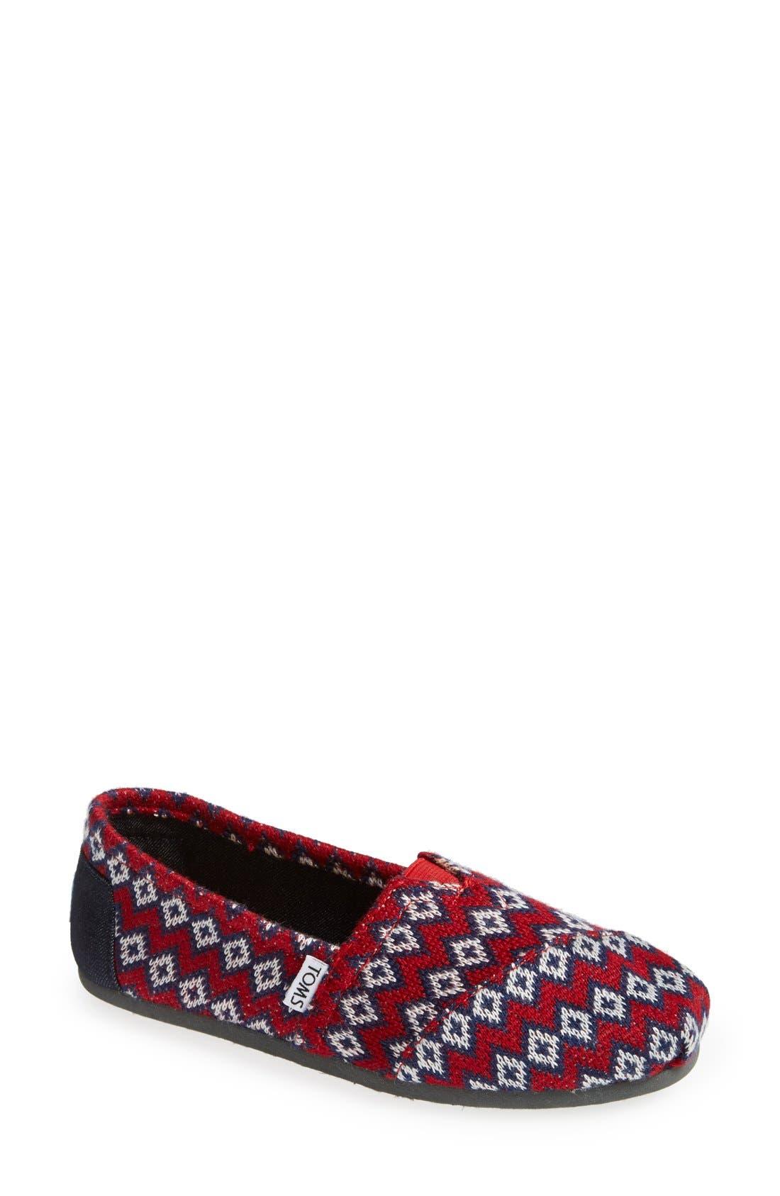 Main Image - TOMS 'Classic - Geo Knit' Slip-On (Women)