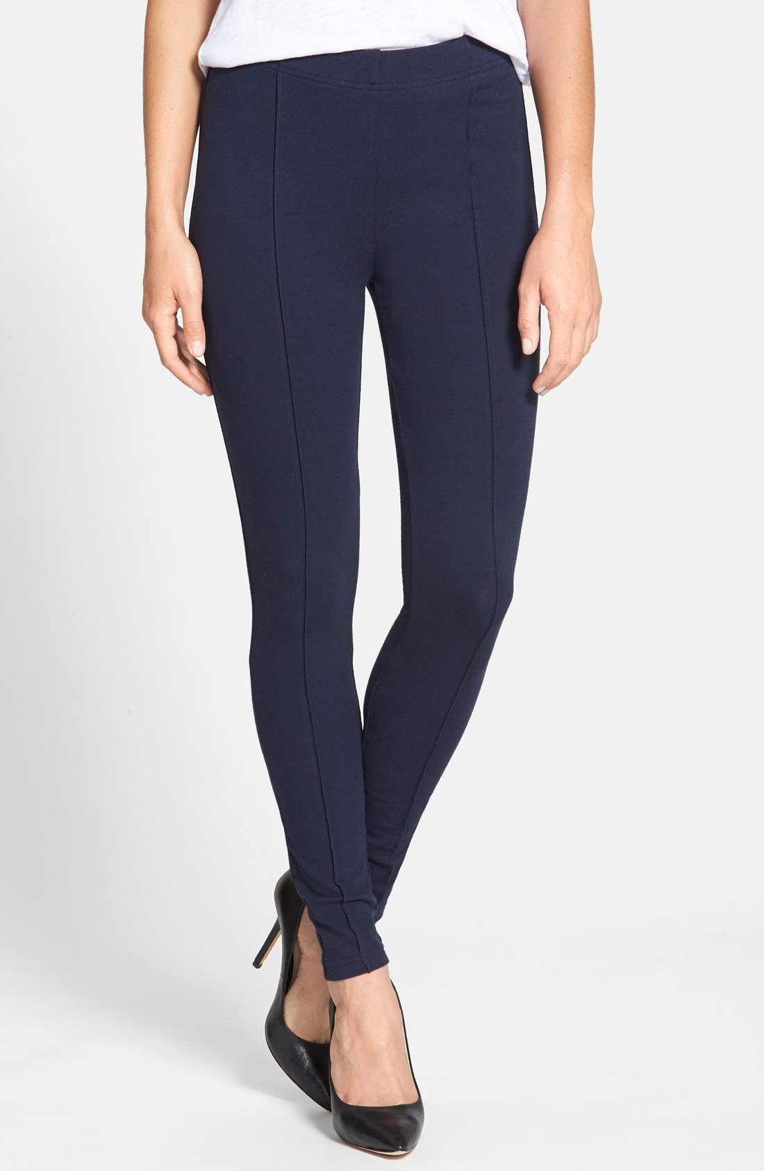 Alternate Image 1 Selected - Chaus Pintuck Seam Leggings